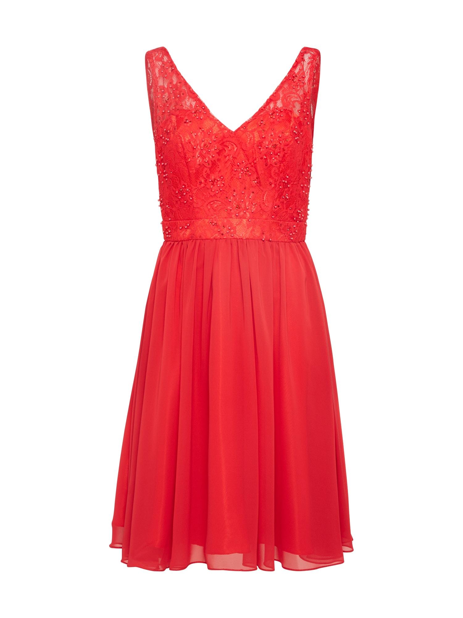 Koktejlové šaty MC181280C červená Mascara