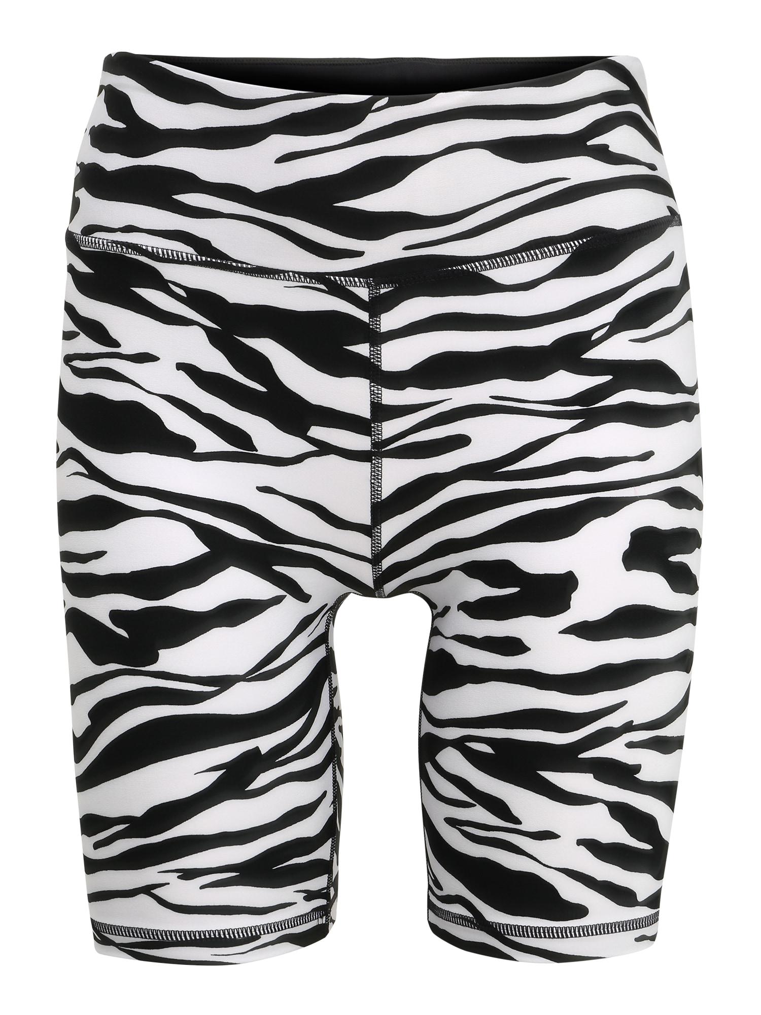 DKNY Sport Športové nohavice 'ZEBRA'  biela / čierna