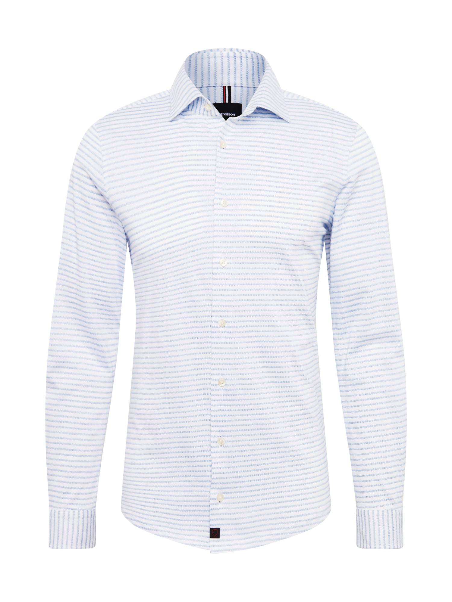 Košile 11 Carson-J světlemodrá bílá STRELLSON