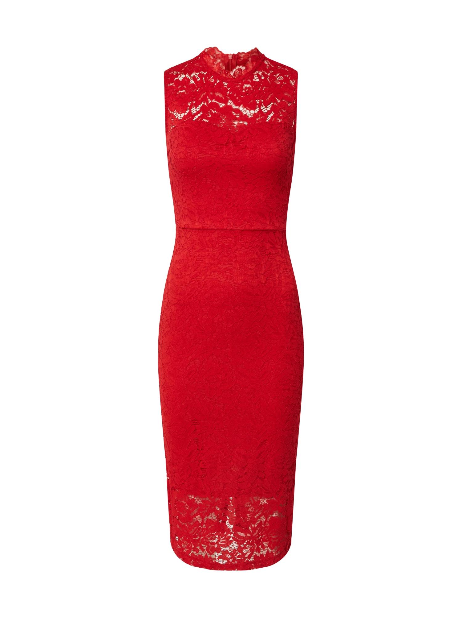 WAL G. Trumpa kokteilinė suknelė raudona