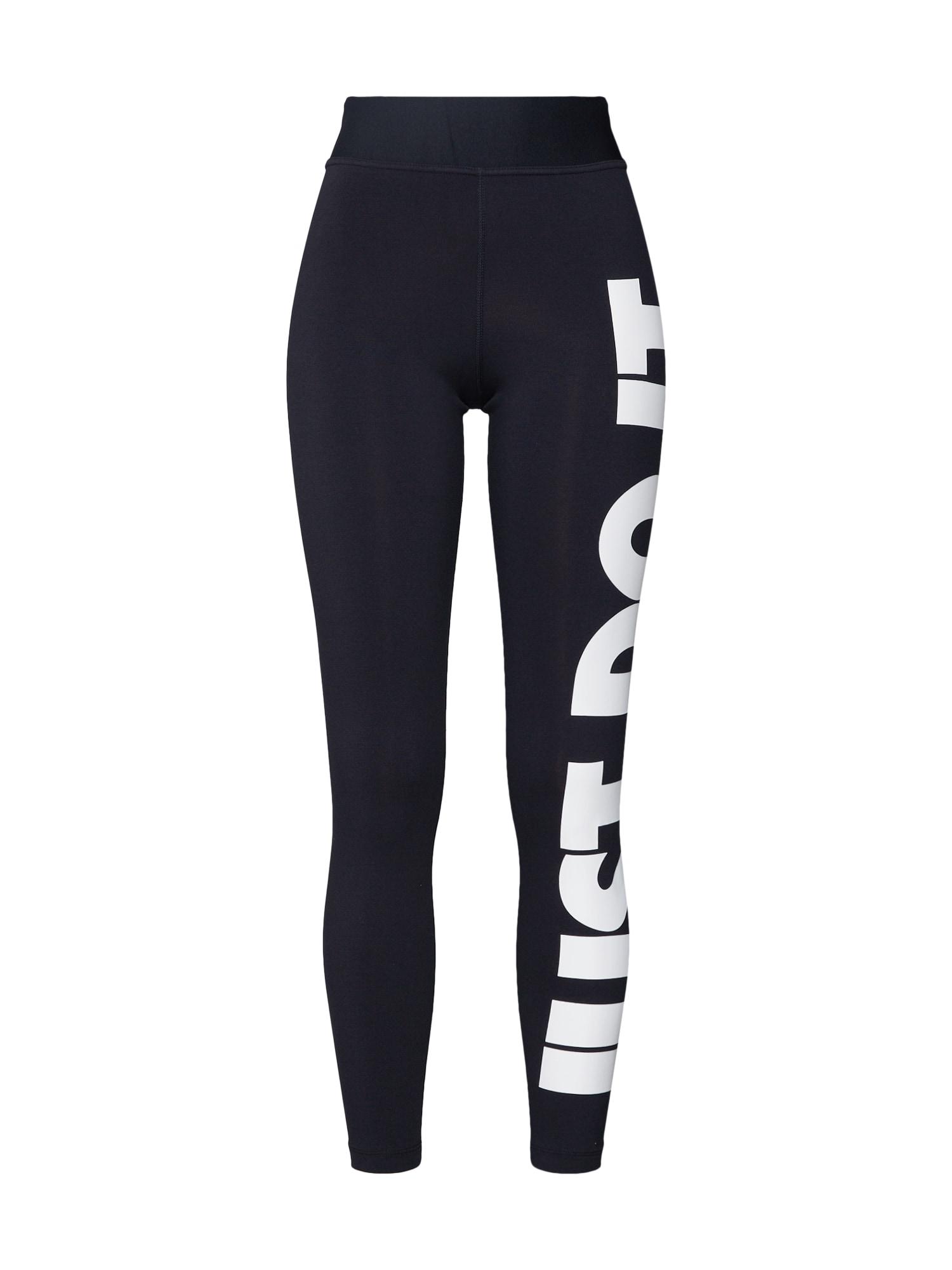 Legíny Legasee černá bílá Nike Sportswear
