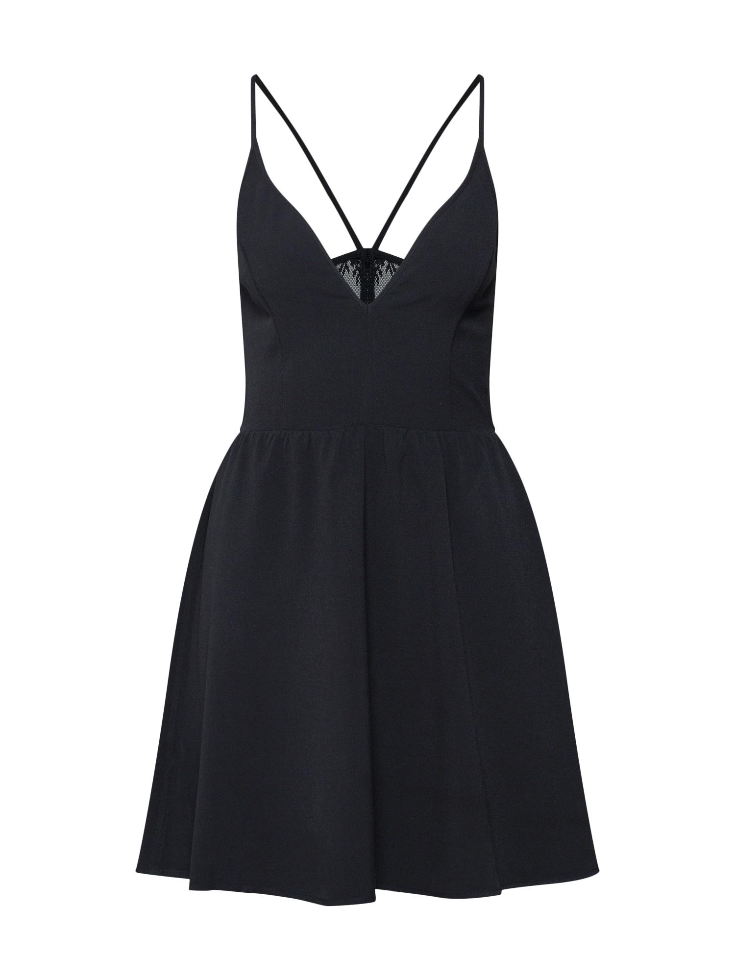 Koktejlové šaty EV4_FW18_2-1-C_103 černá Even&odd