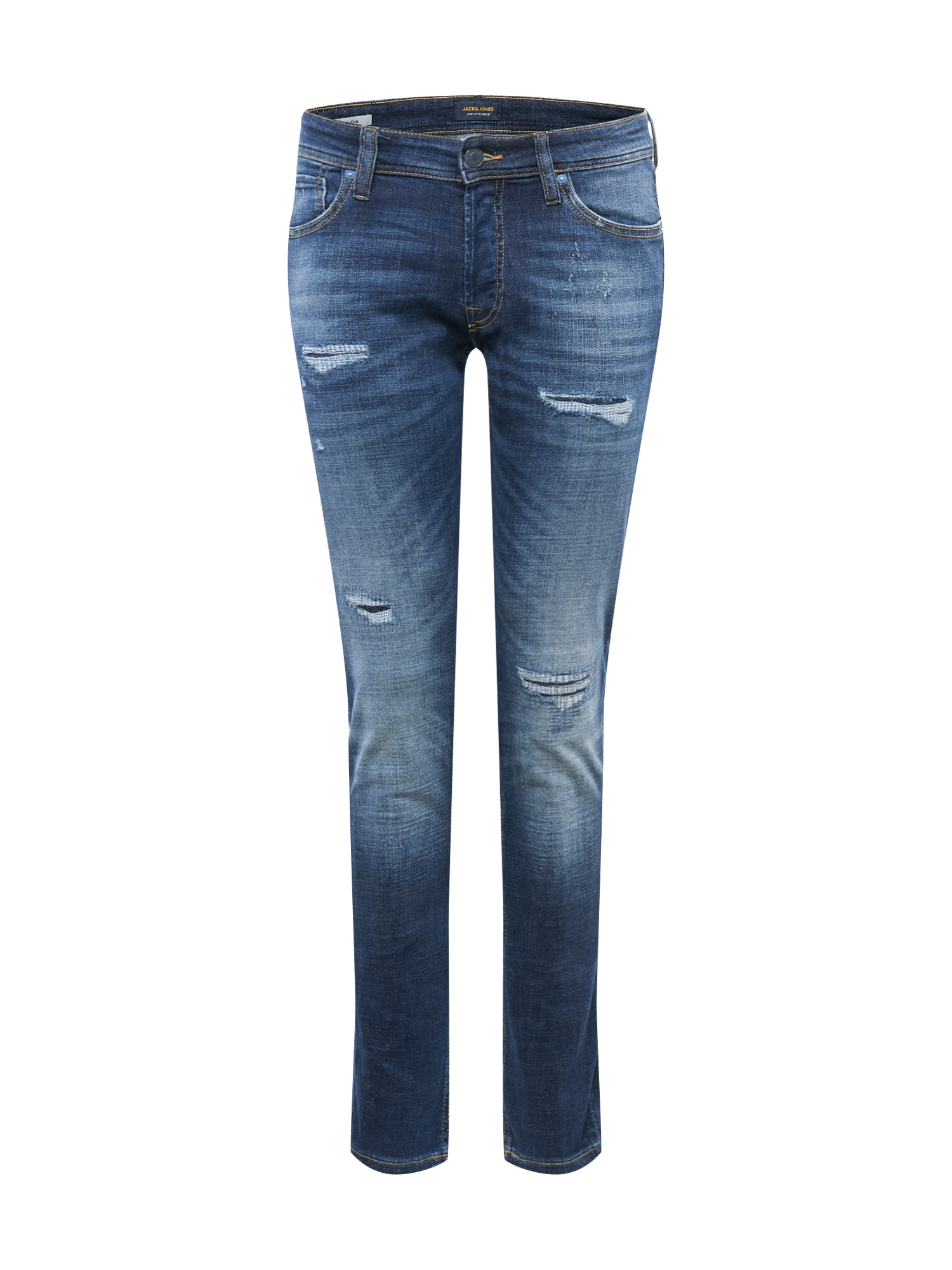 JACK & JONES Džínsy 'Glenn'  modrá denim