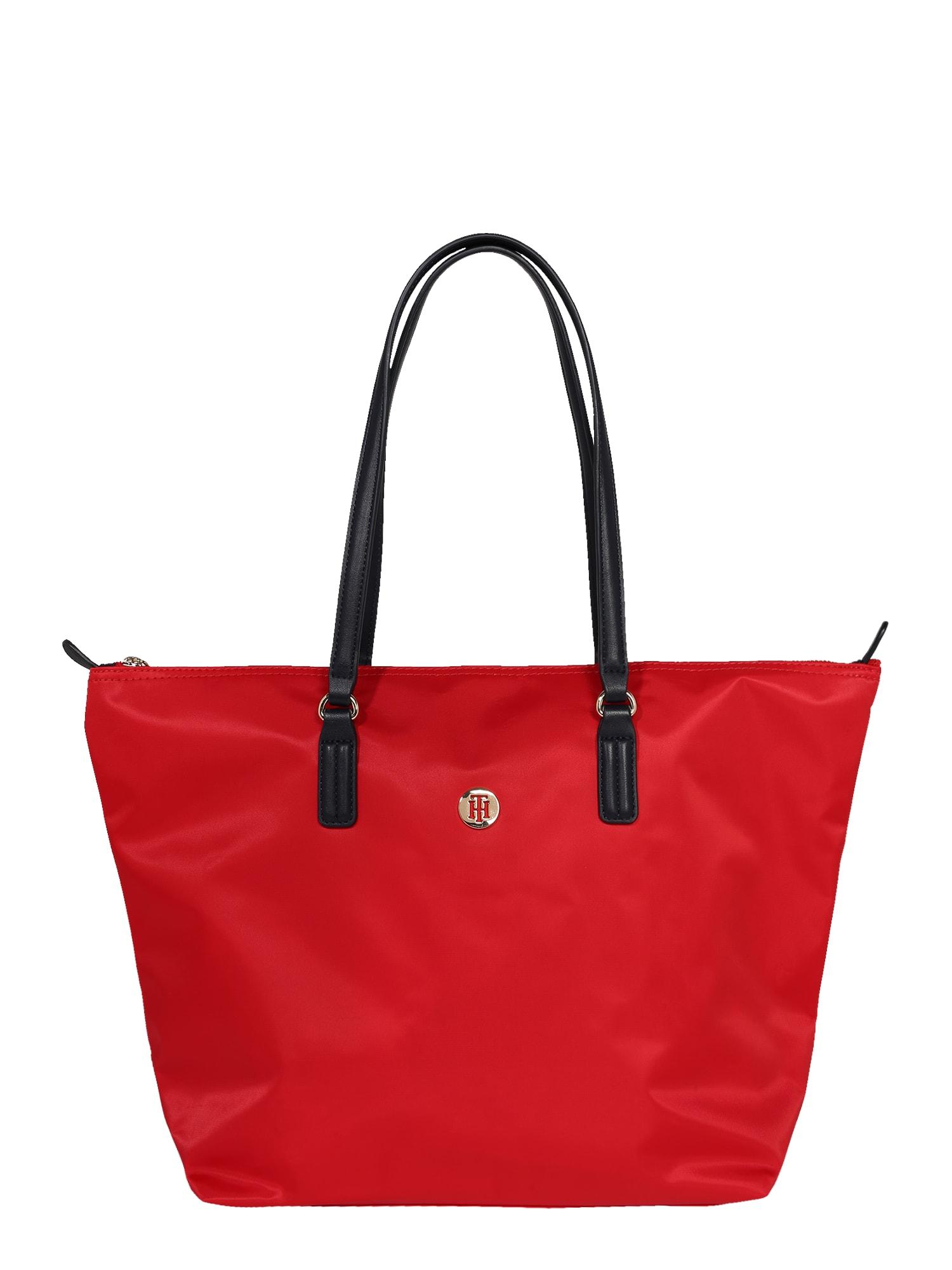 TOMMY HILFIGER Pirkinių krepšys 'Poppy' spanguolių spalva