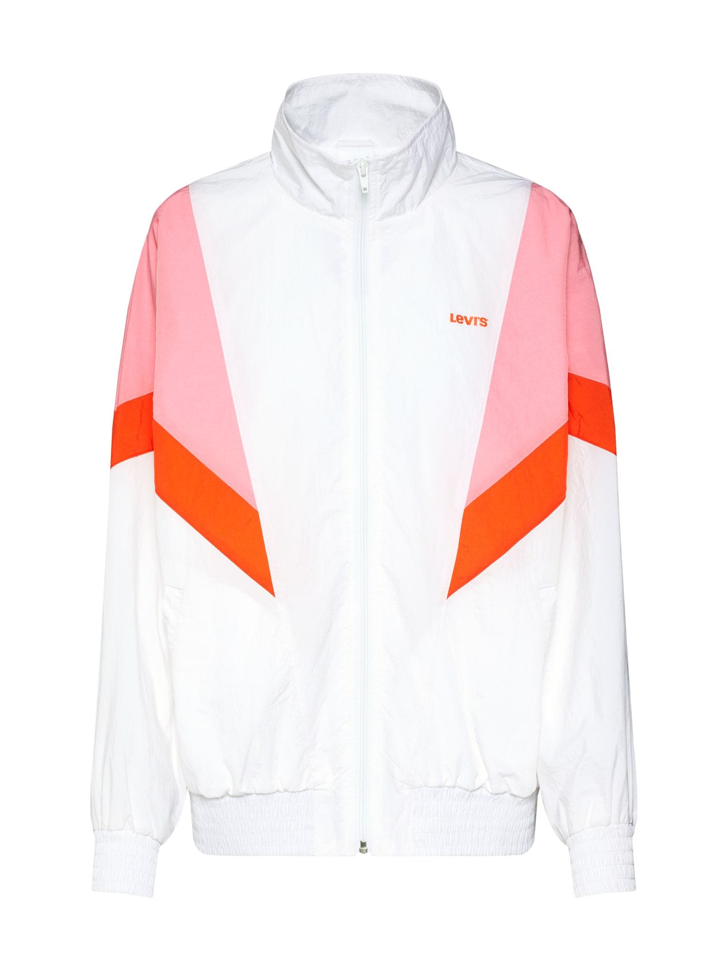 LEVIS Přechodná bunda REESE WINDBREAKER oranžová růžová bílá LEVI'S