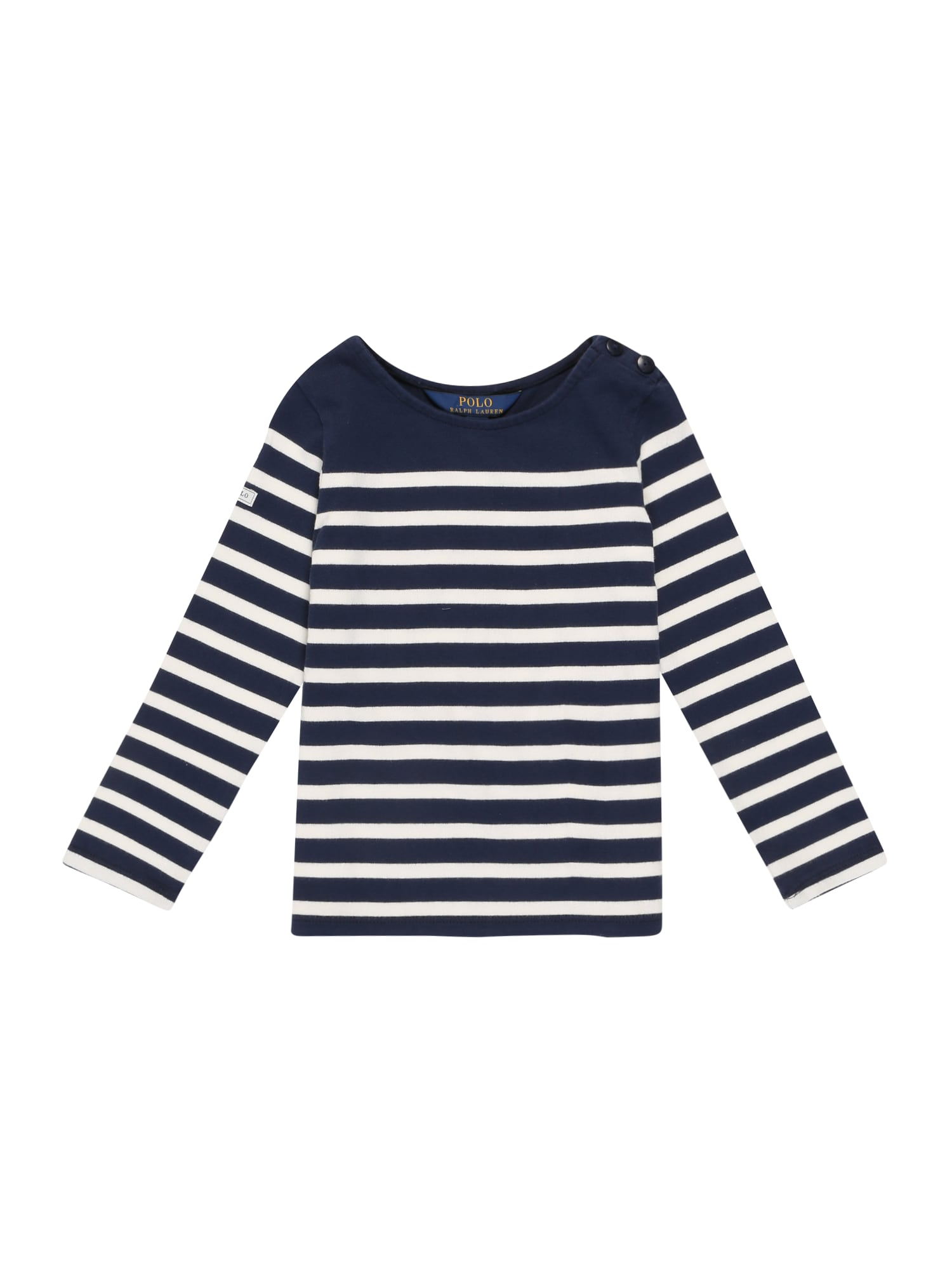 POLO RALPH LAUREN Marškinėliai tamsiai mėlyna / balta