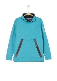 S.Oliver,S.Oliver Junior,s.Oliver Kinder,Jungen Sweatshirt mit Turtleneck SLIM schwarz,türkis | 04055268326641