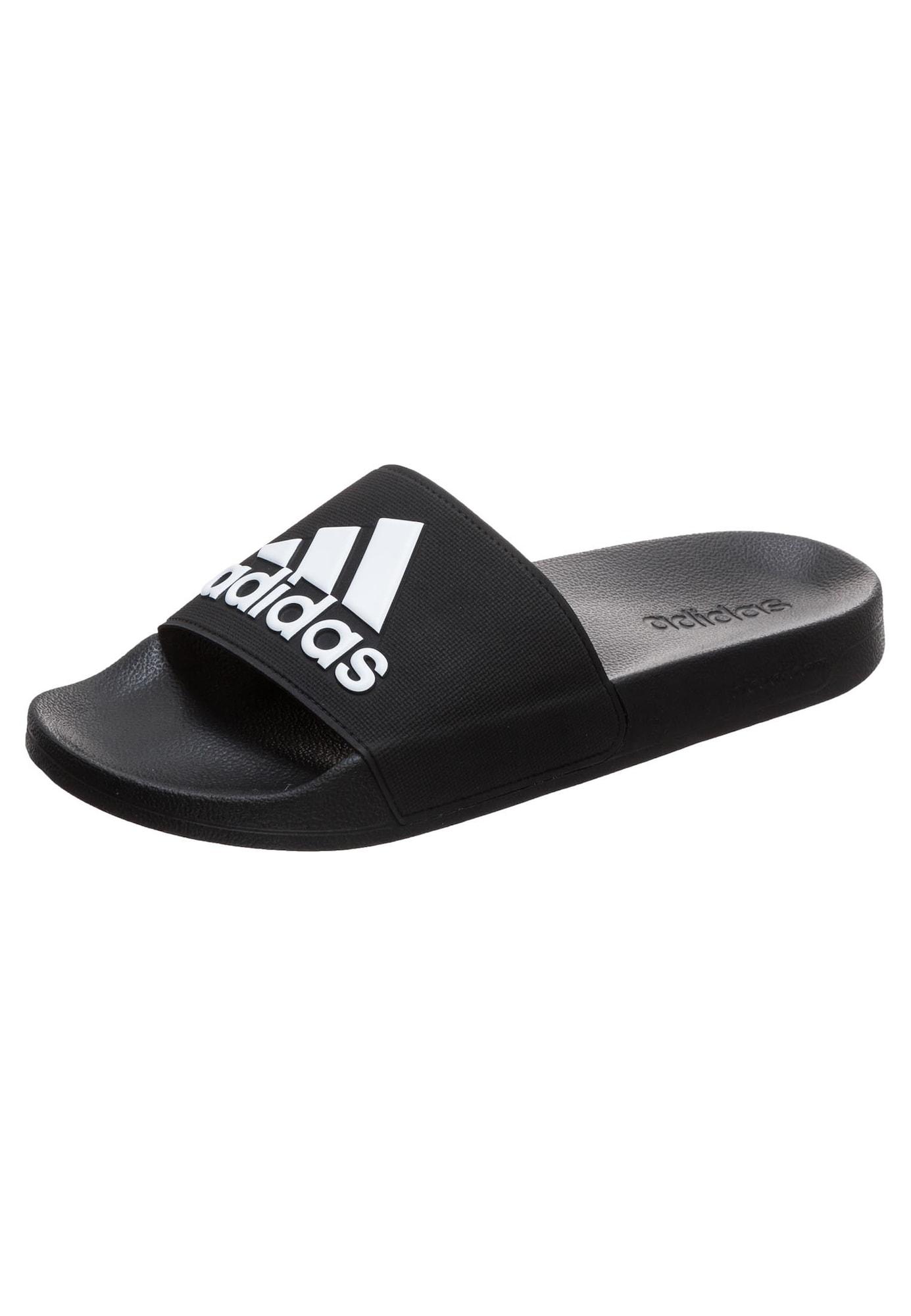 ADIDAS PERFORMANCE Sandalai / maudymosi batai 'Adilette Shower' juoda