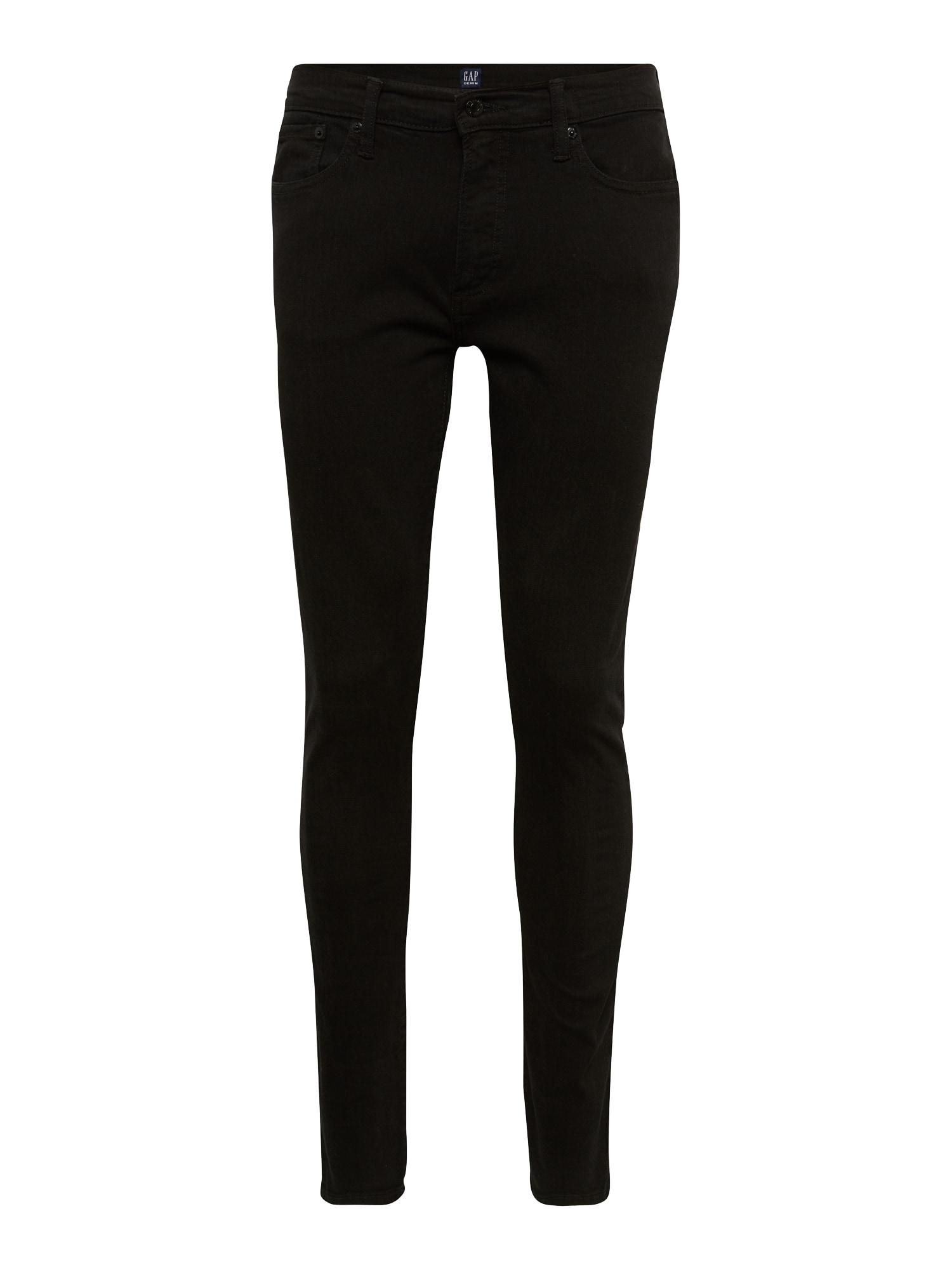 GAP Džinsai juodo džinso spalva