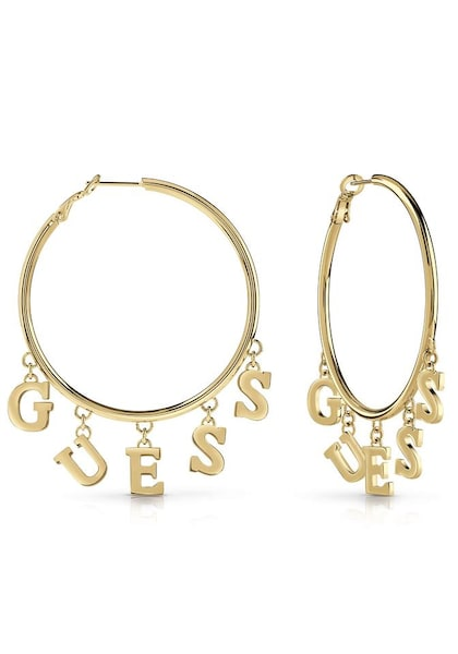 Ohrringe für Frauen - GUESS Creolen 'Follow My Charm, UBE28007' gold  - Onlineshop ABOUT YOU