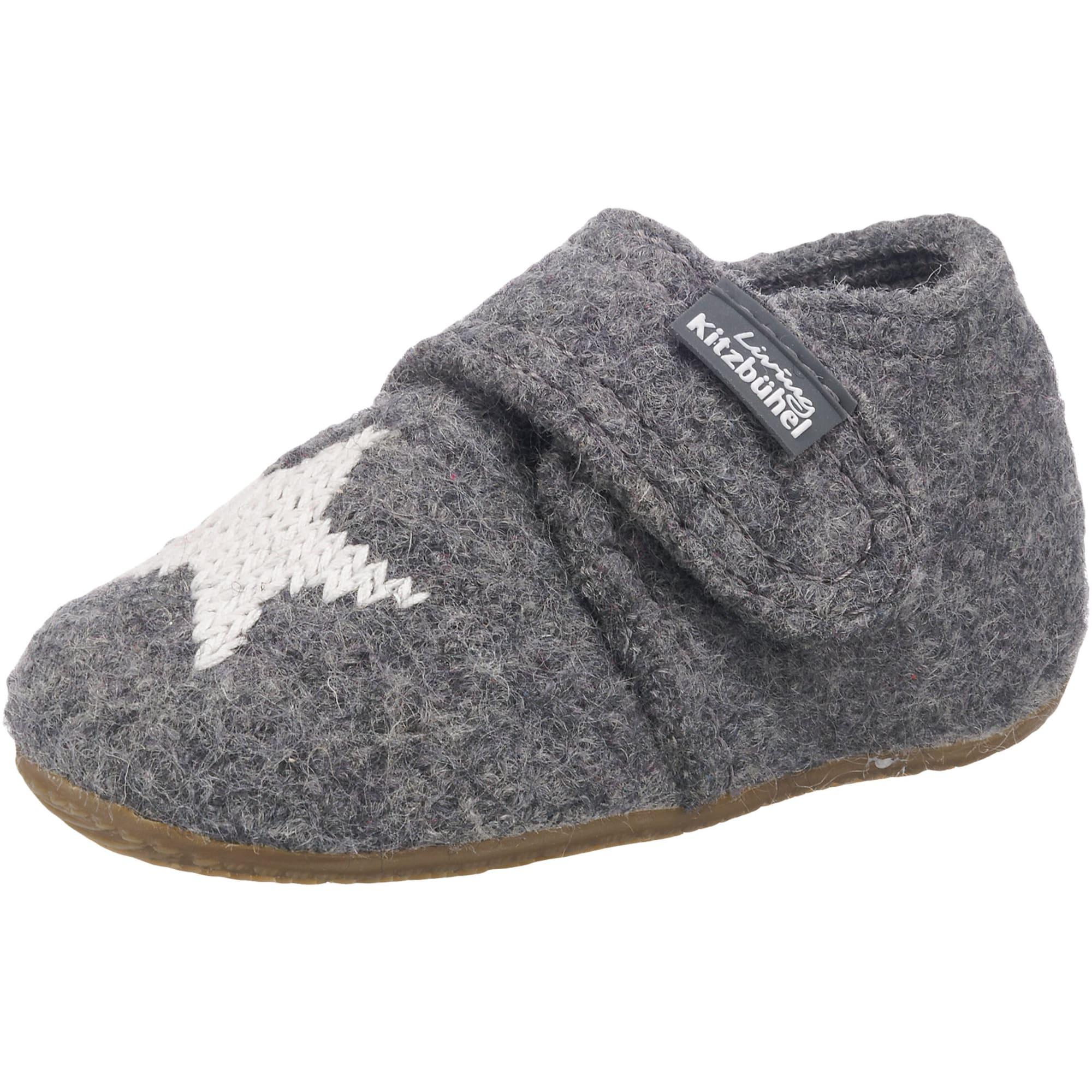 Pantofle šedá bílá Living Kitzbühel