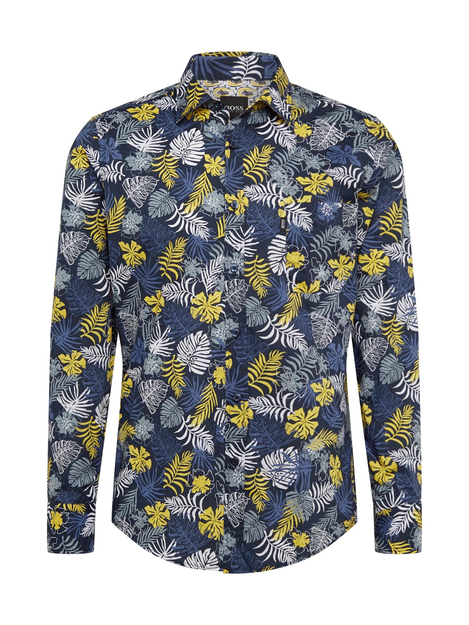 BOSS Dalykiniai marškiniai 'Relegant_2' tamsiai mėlyna