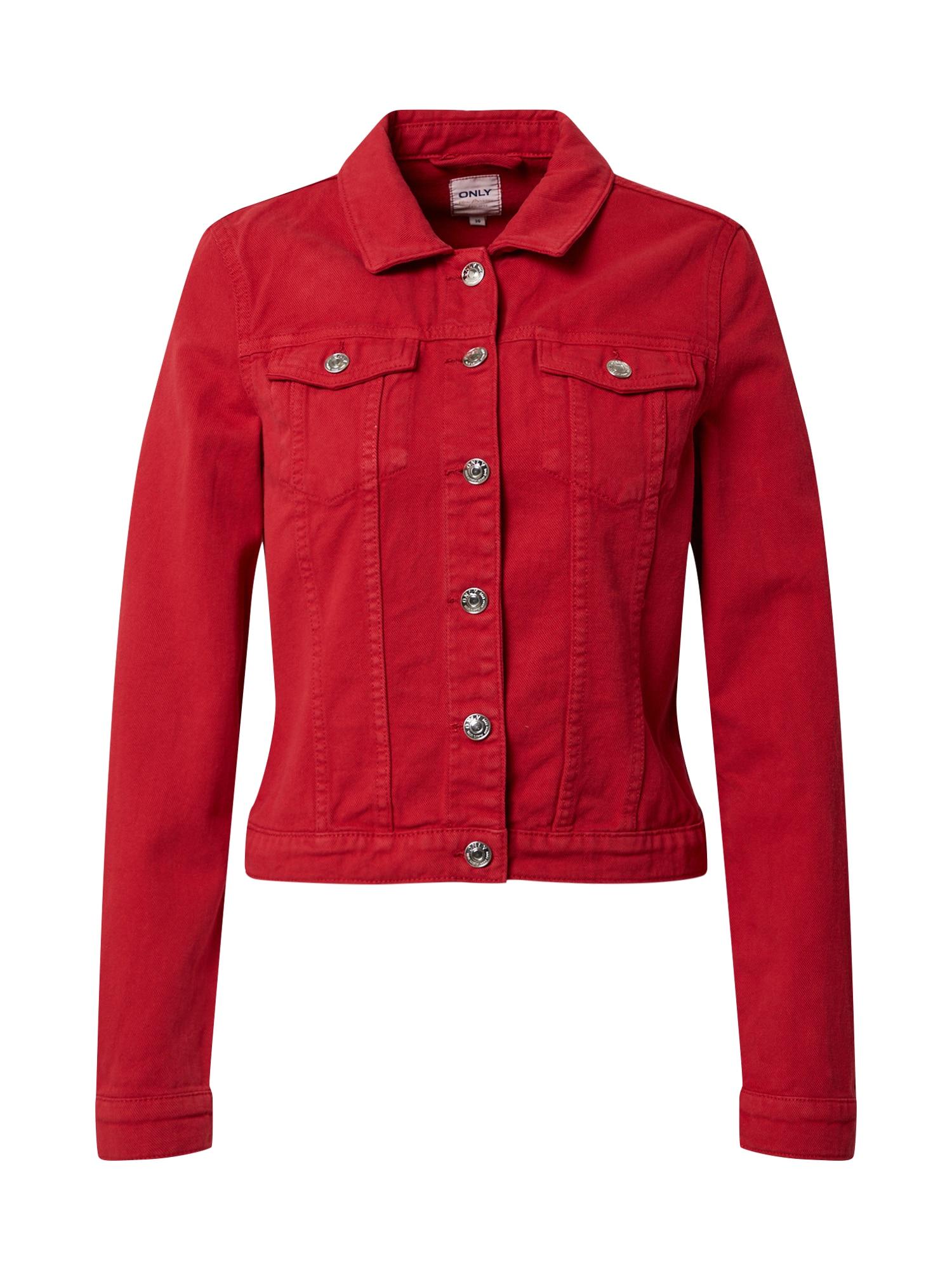 ONLY Prechodná bunda 'WESTA'  červené