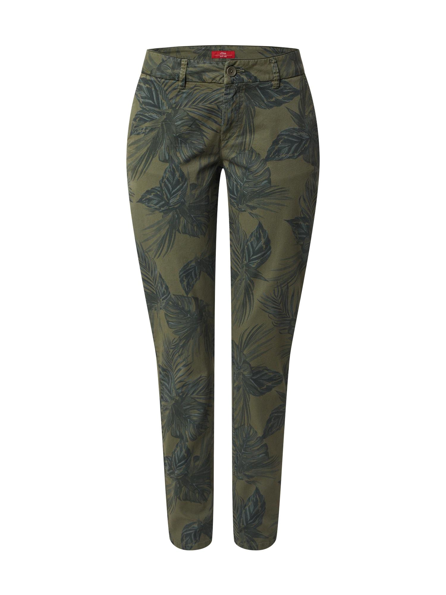 s.Oliver Chino kalhoty  olivová / námořnická modř