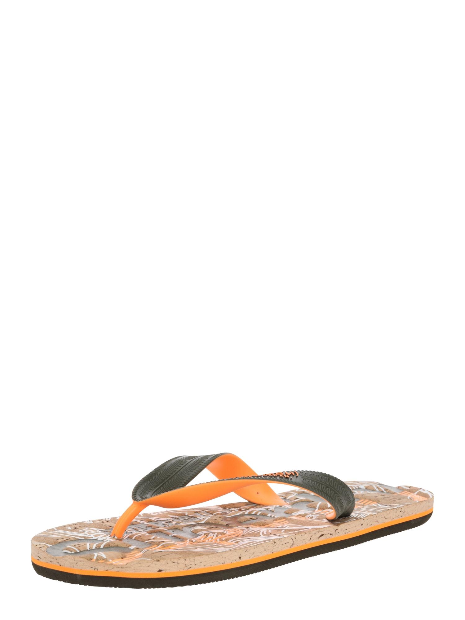 Superdry Šlepetės per pirštą oranžinė