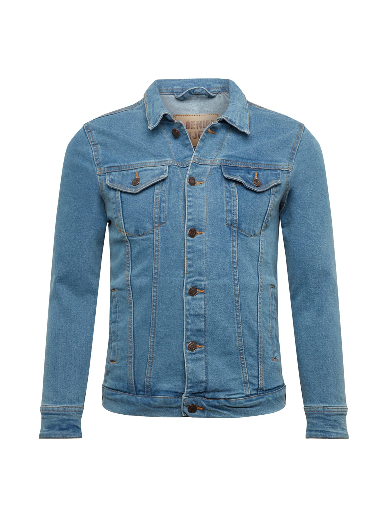 Denim Project Demisezoninė striukė 'Kash' tamsiai (džinso) mėlyna