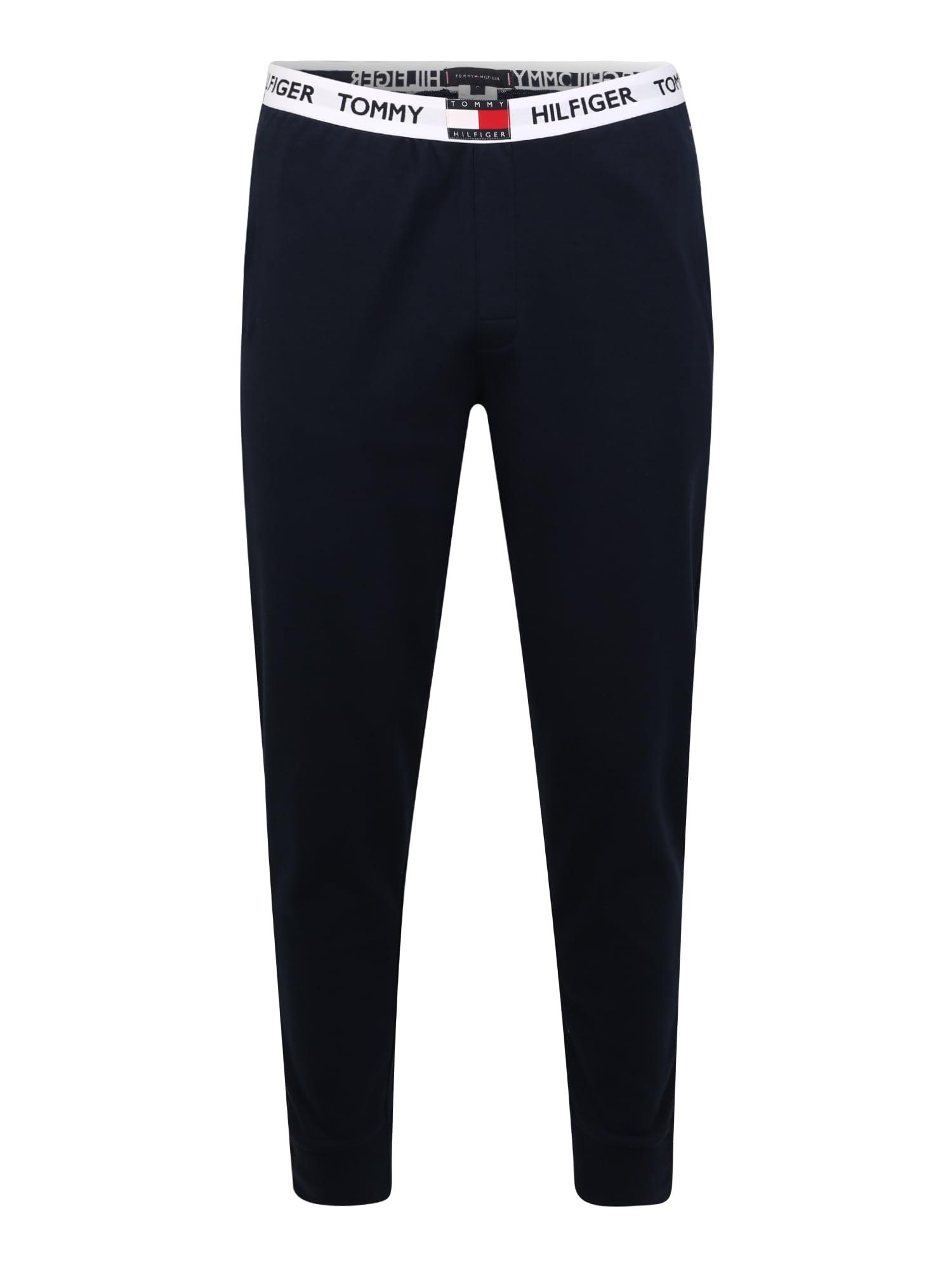 Tommy Hilfiger Underwear Pižaminės kelnės balta / raudona / tamsiai mėlyna jūros spalva