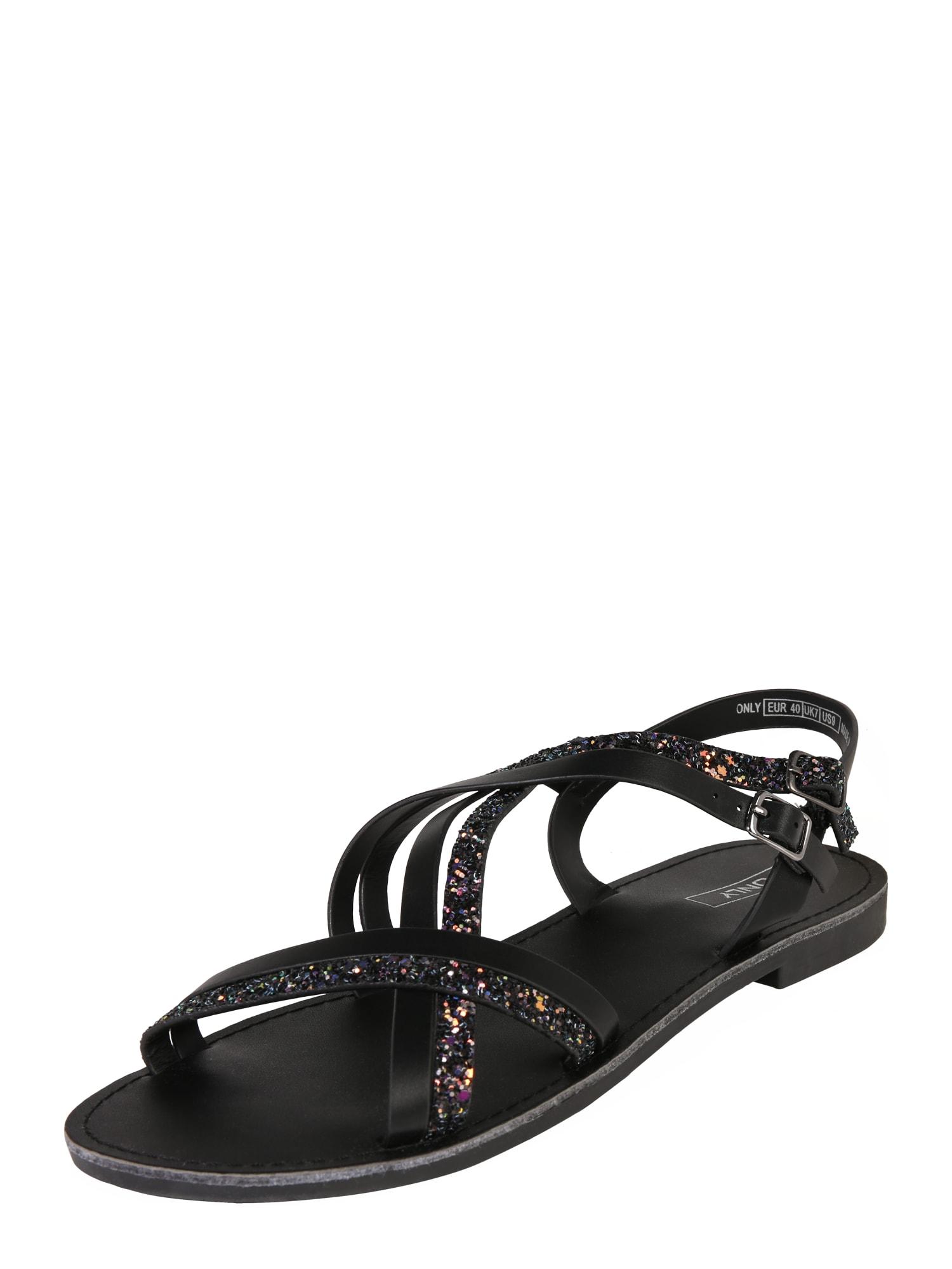 Páskové sandály Mandala černá ONLY