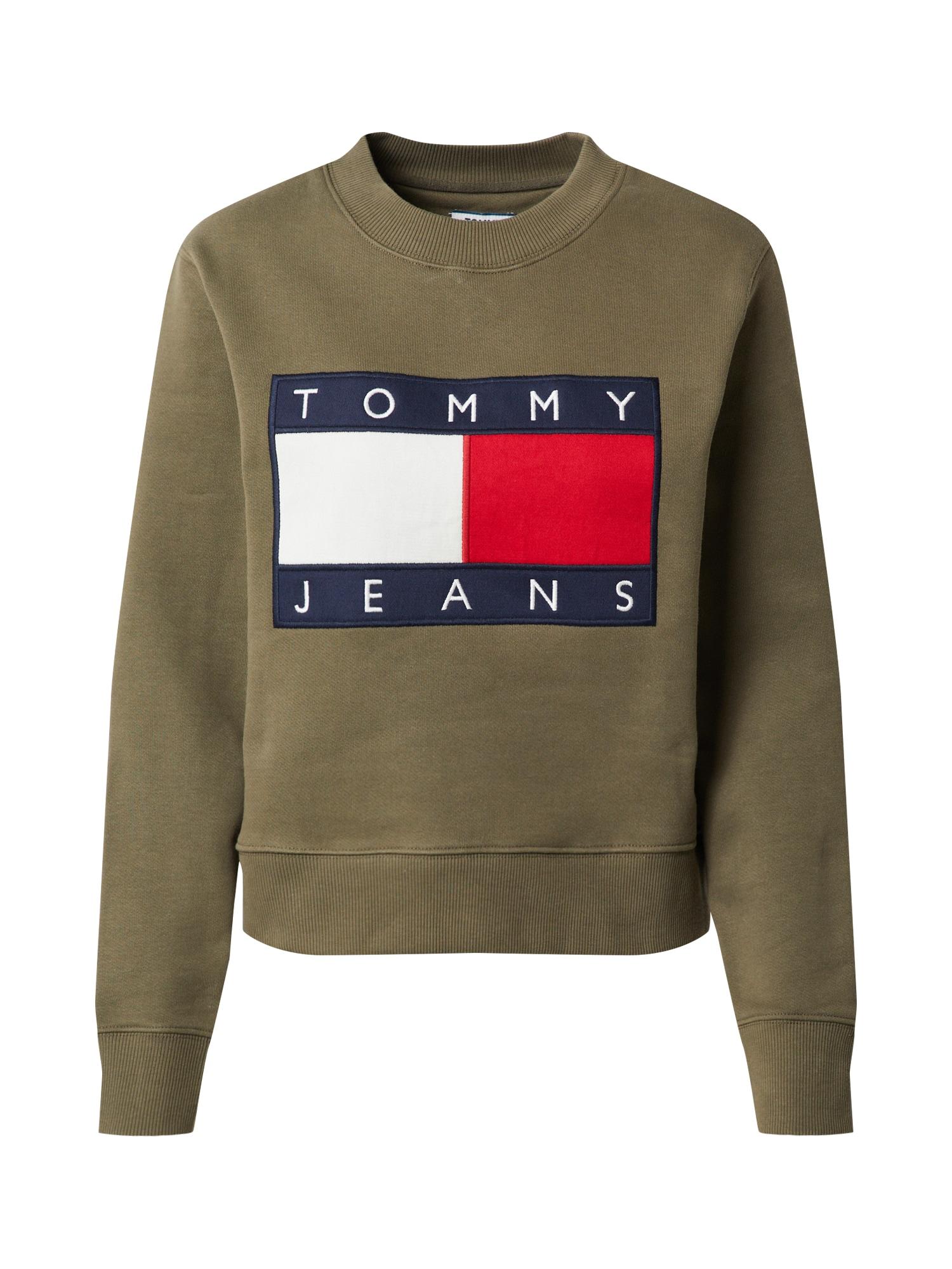 Tommy Jeans Mikina  kaki