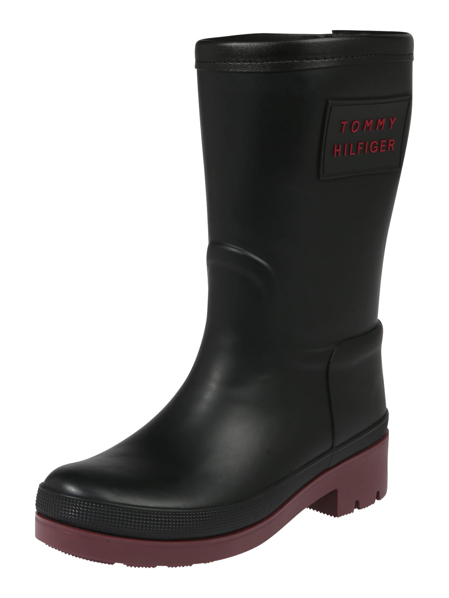 Damen Tommy Hilfiger Stiefel 'WARMLINED RAINBOOT' schwarz   08719859205260