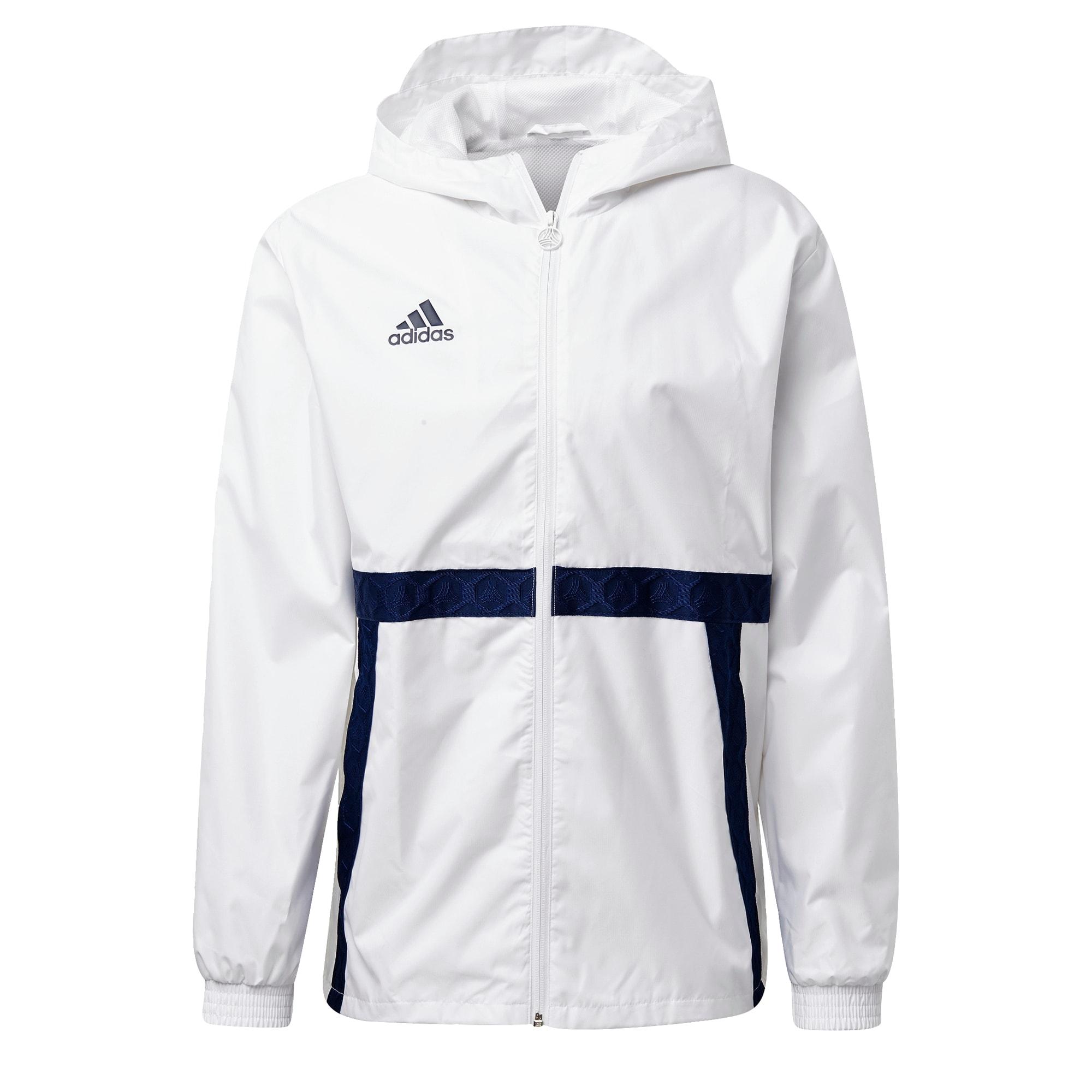 ADIDAS PERFORMANCE Sportinė striukė tamsiai mėlyna / balta