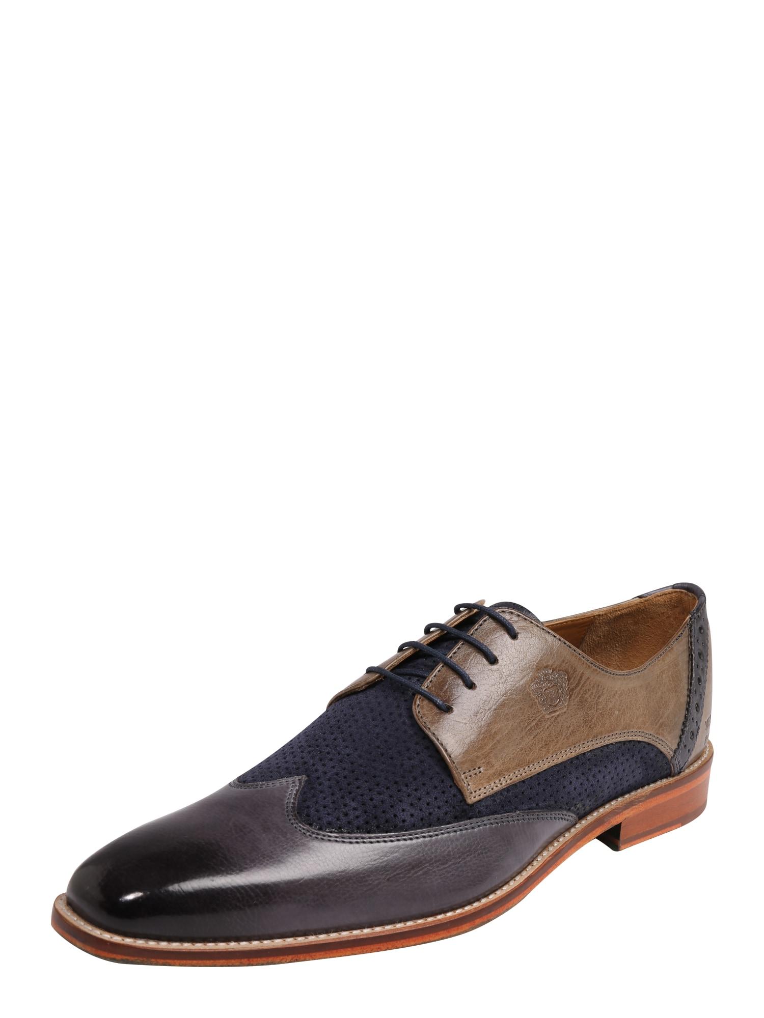 Šněrovací boty Martin 7 námořnická modř šedá MELVIN & HAMILTON