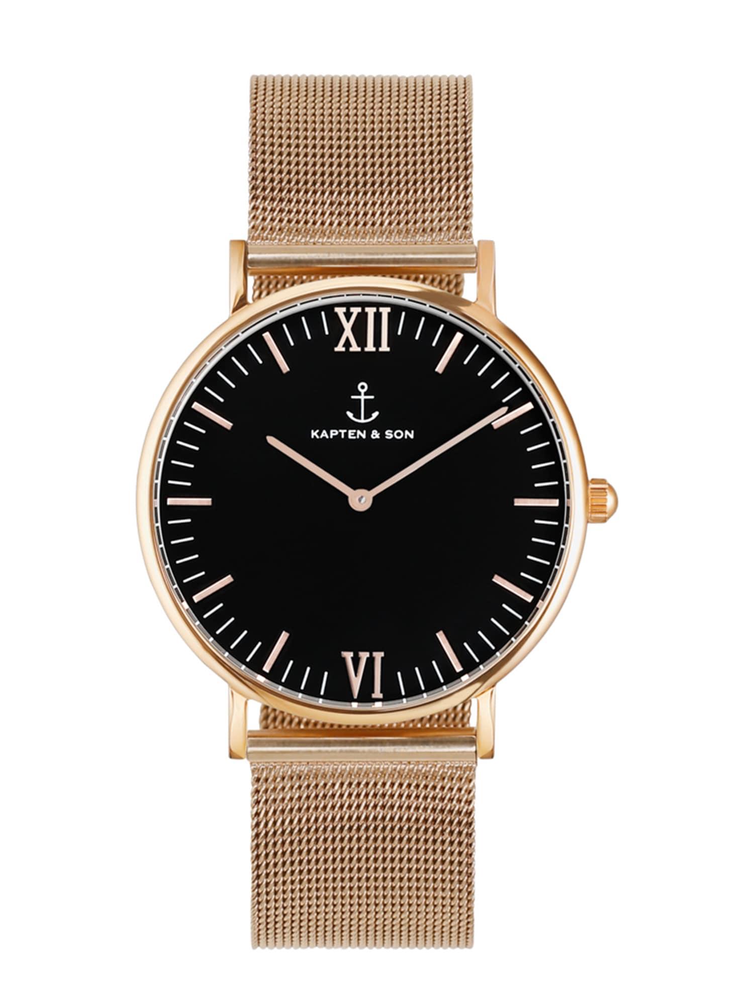 Analogové hodinky Campus růže černá Kapten & Son