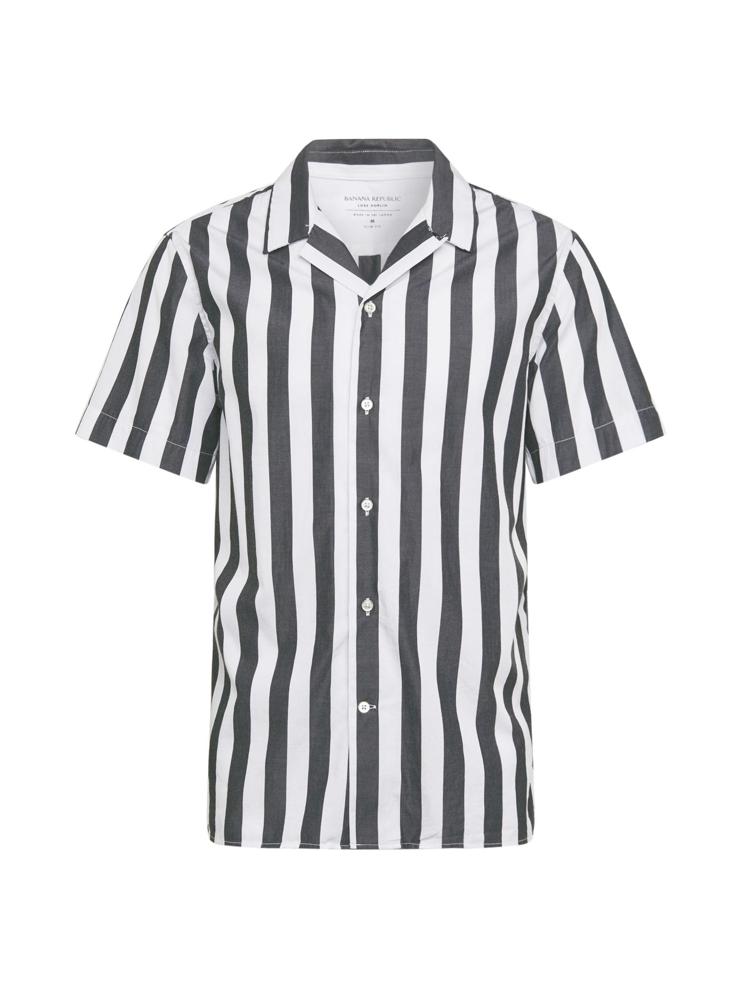 Banana Republic Dalykiniai marškiniai pilka / balta