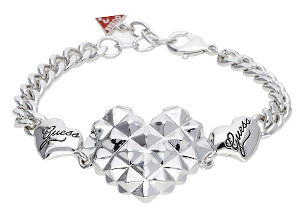 Armbaender für Frauen - GUESS Armband 'UBB70214' rot silber  - Onlineshop ABOUT YOU