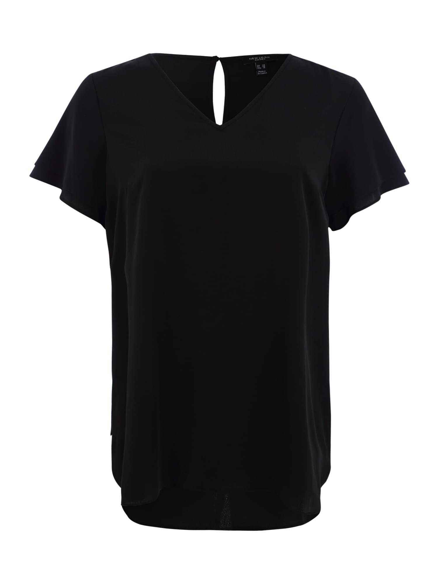Halenka SILKY MORROCAIN NOAH TUNIC černá New Look Curves