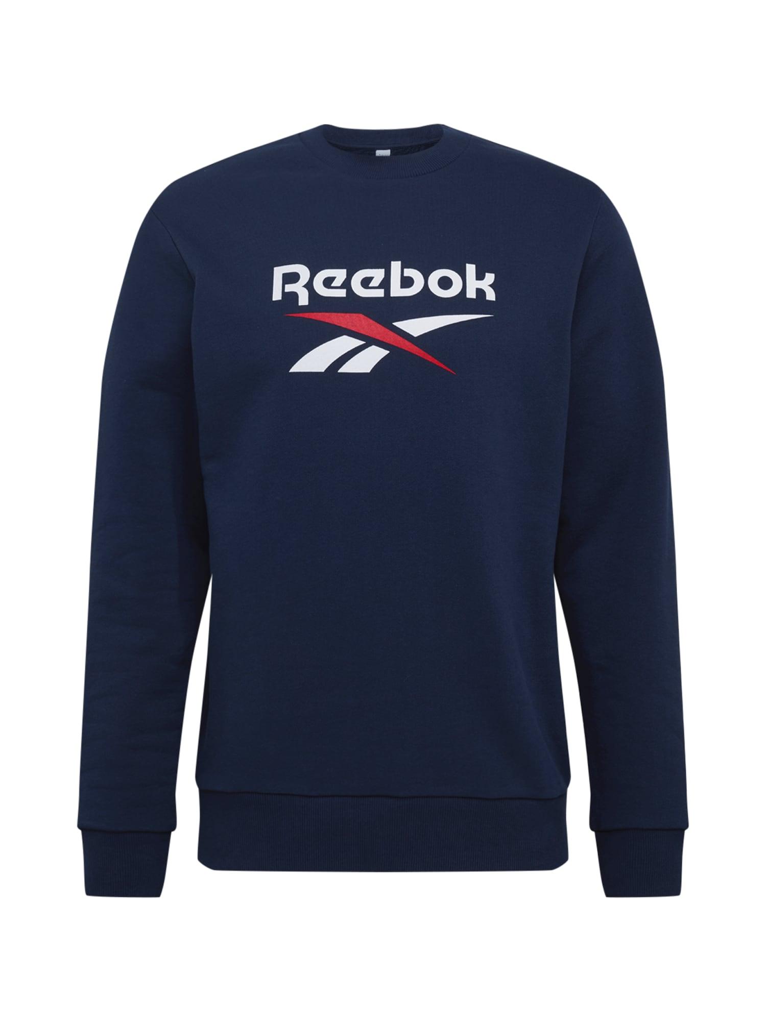 REEBOK Sportinio tipo megztinis tamsiai mėlyna / balta / raudona