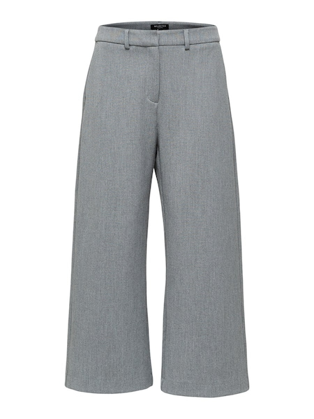 Hosen - Weite Cropped Hose › Selected Femme › grau  - Onlineshop ABOUT YOU