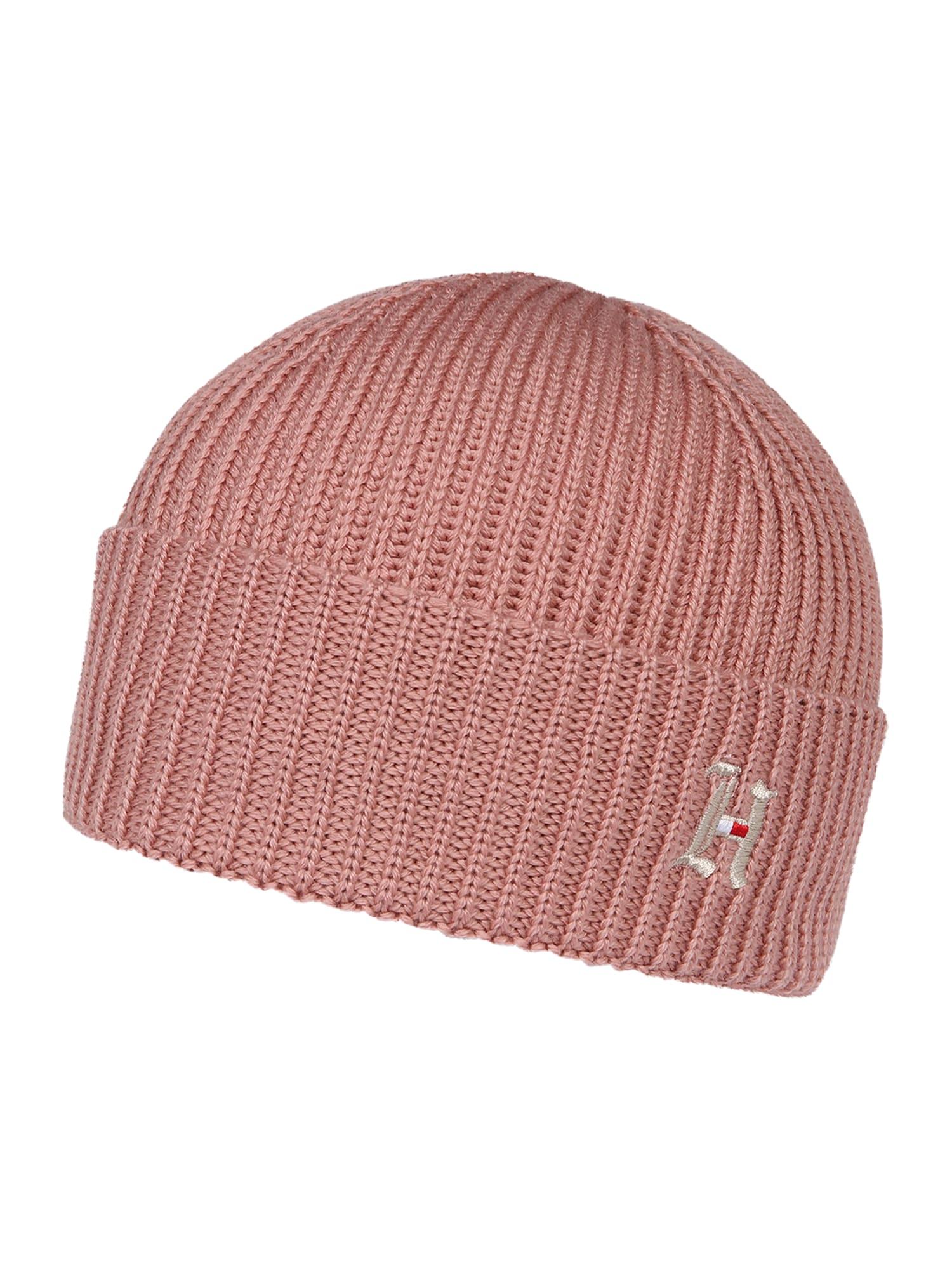 TOMMY HILFIGER Megzta kepurė 'BEANIE' rožinė