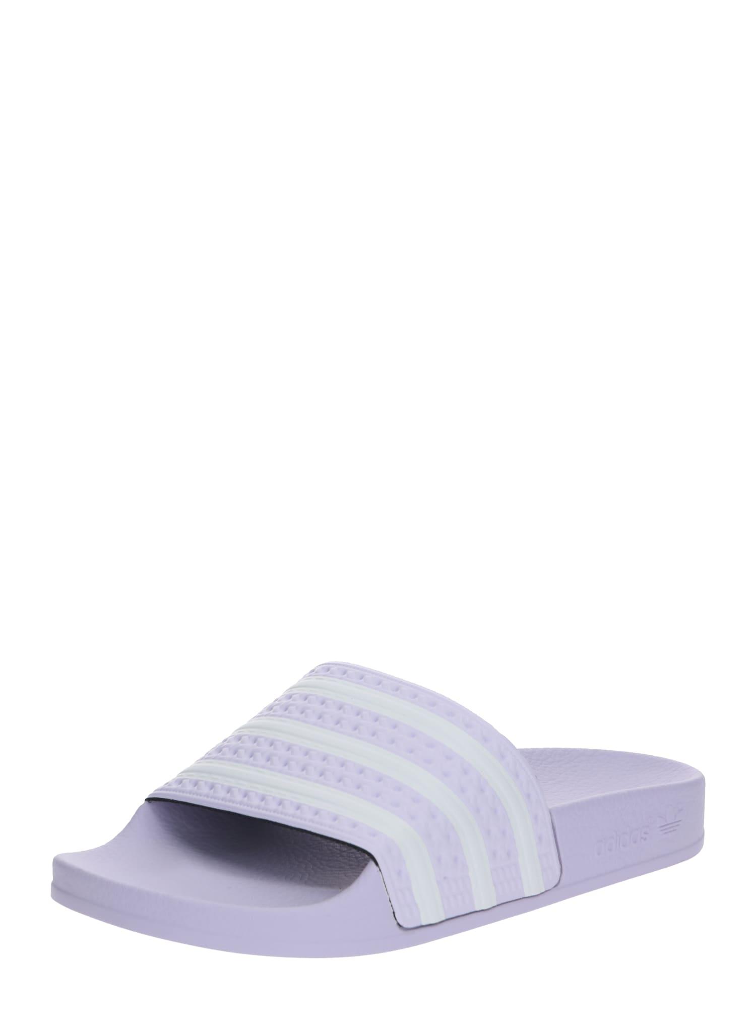 ADIDAS ORIGINALS Flip-flops 'ADILETTE'  mov / alb
