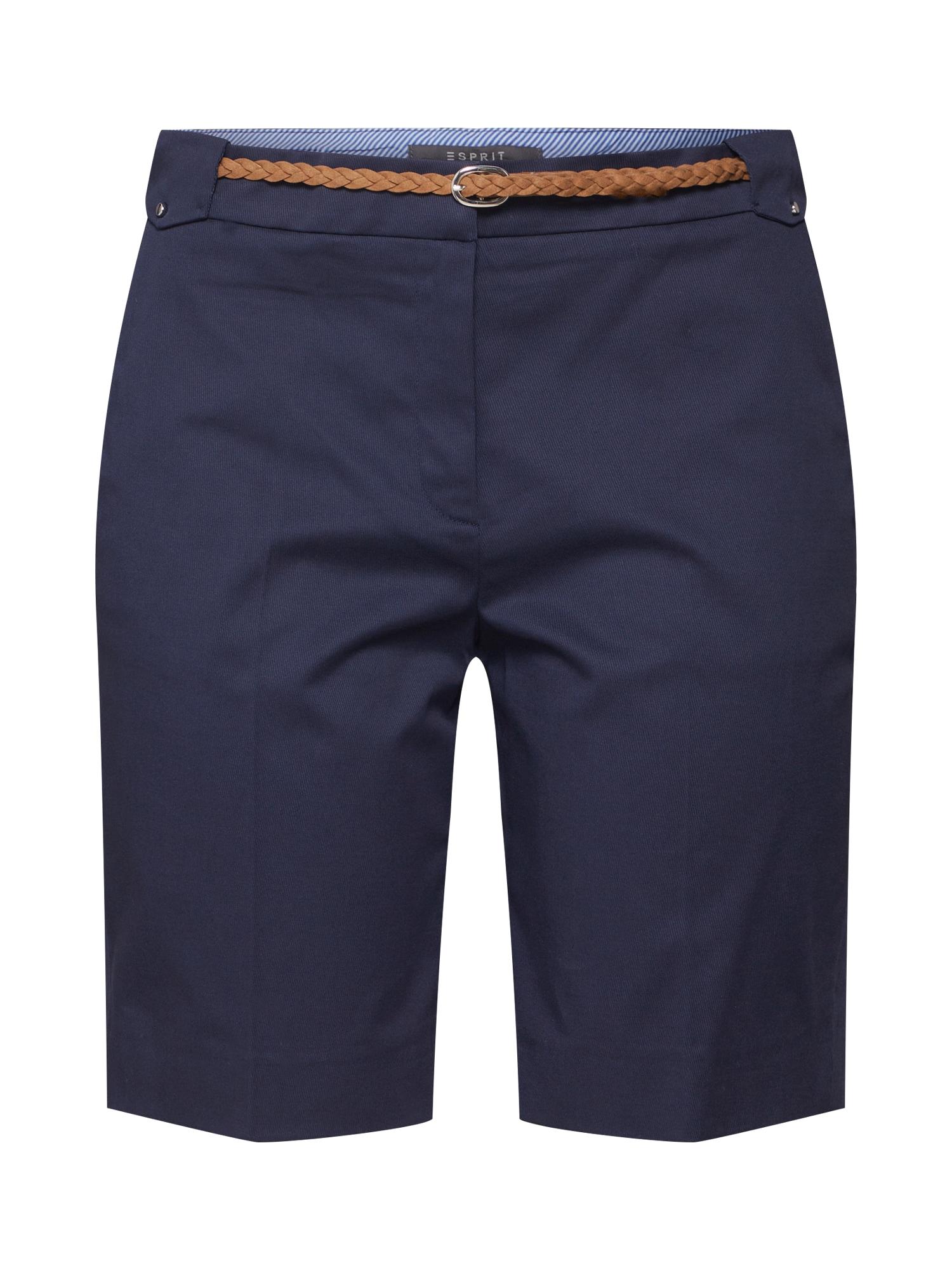 Kalhoty s puky námořnická modř Esprit Collection