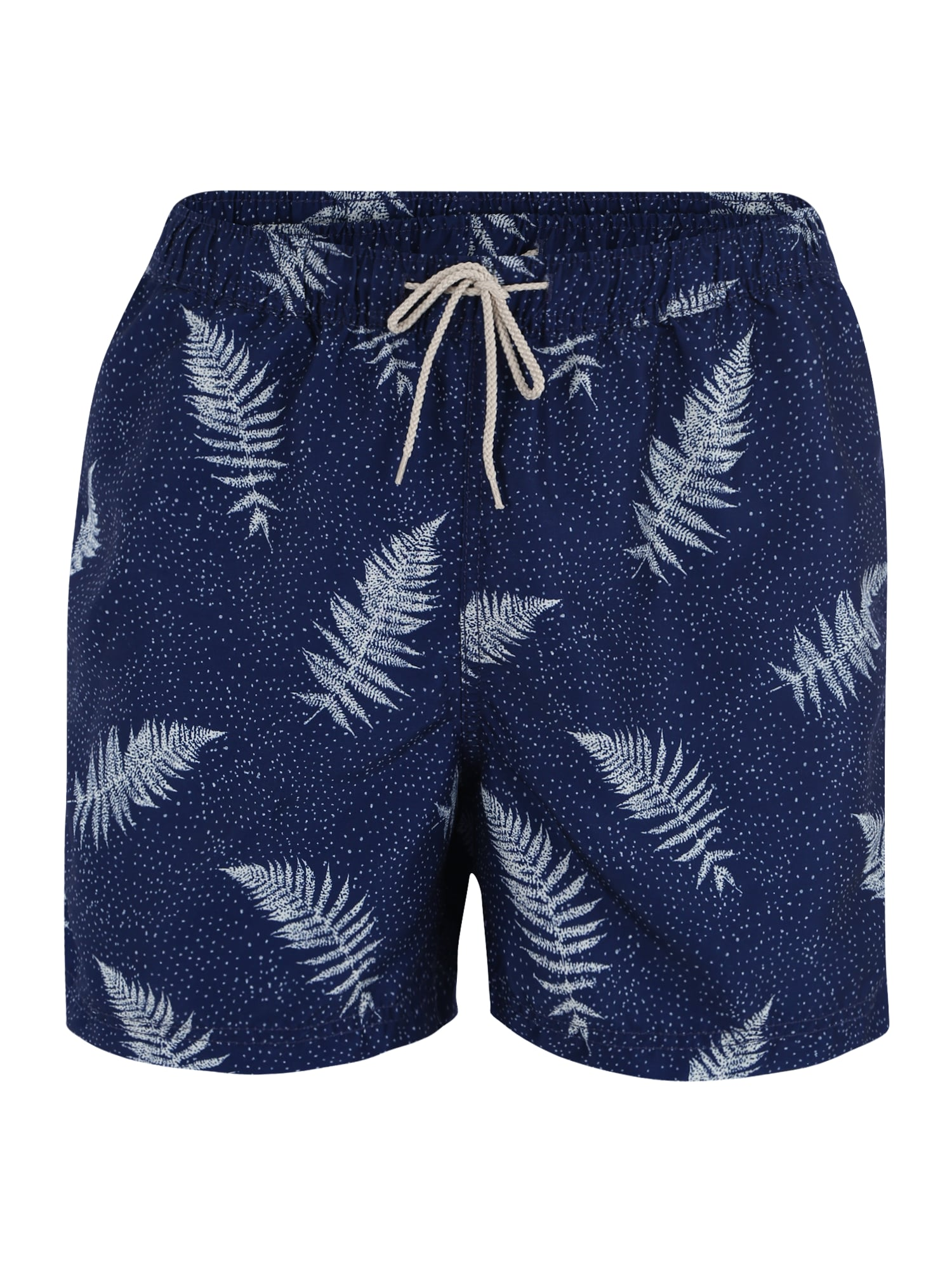 Plavecké šortky SLHCLASSIC AOP SWIMSHORTS W CITRON AOP námořnická modř mix barev SELECTED HOMME