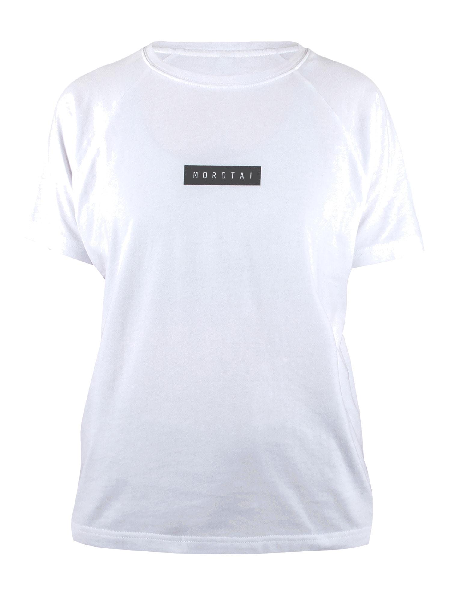 MOROTAI Sportiniai marškinėliai ' Bloc Logo Shirt ' balta