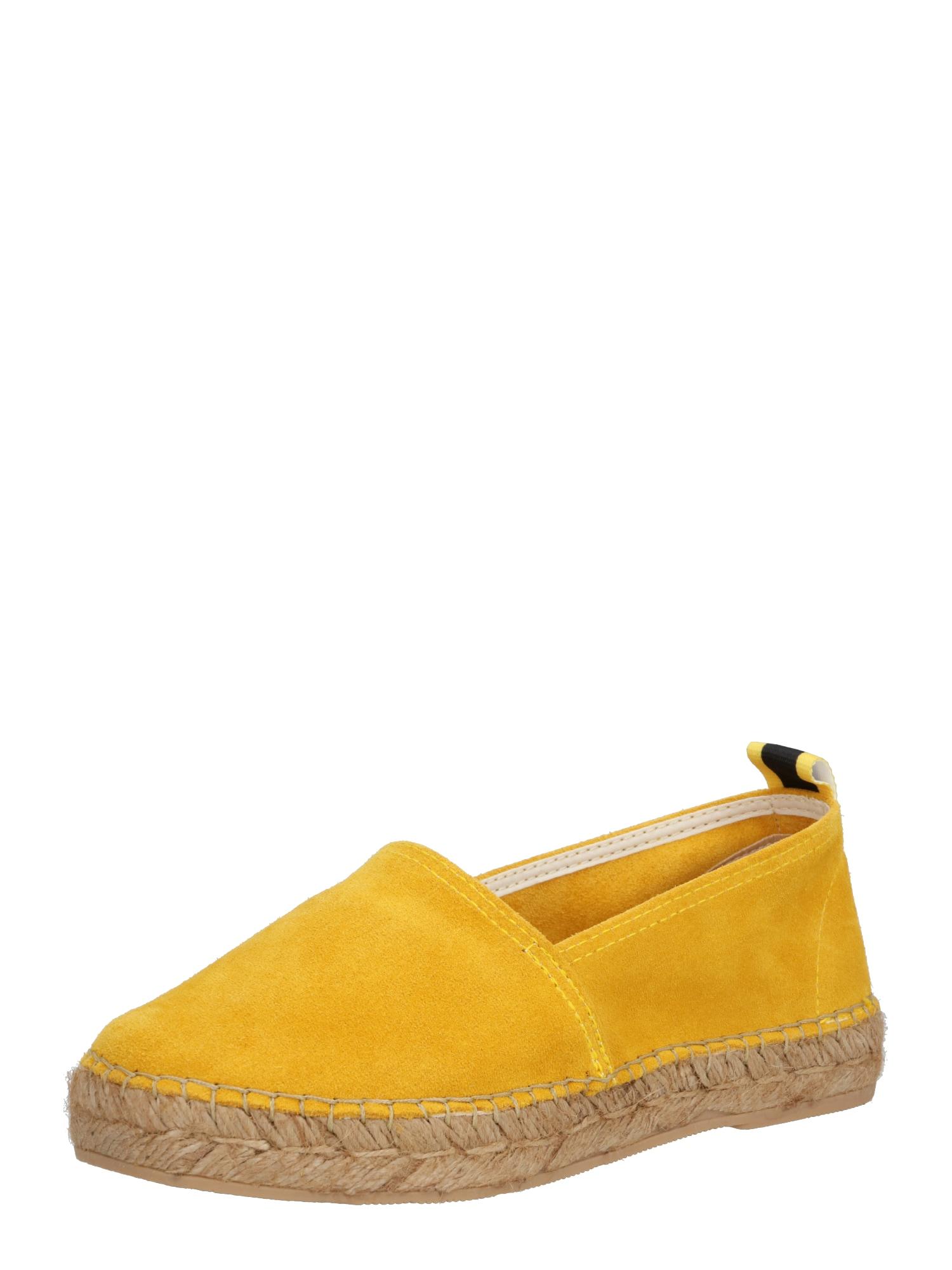MACARENA Espadrilės 'ELIS145' geltona / smėlio