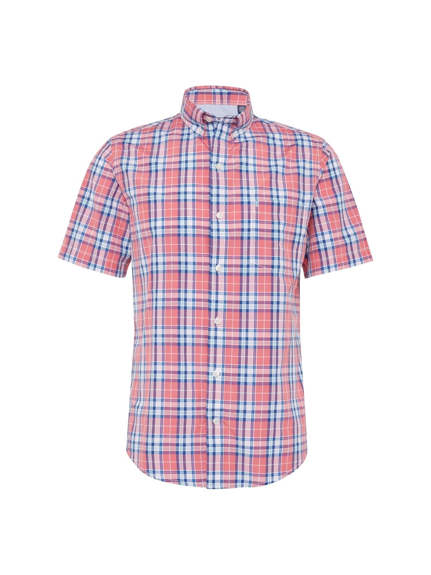 Košile BREEZE POPLIN PLAID modrá červená bílá IZOD