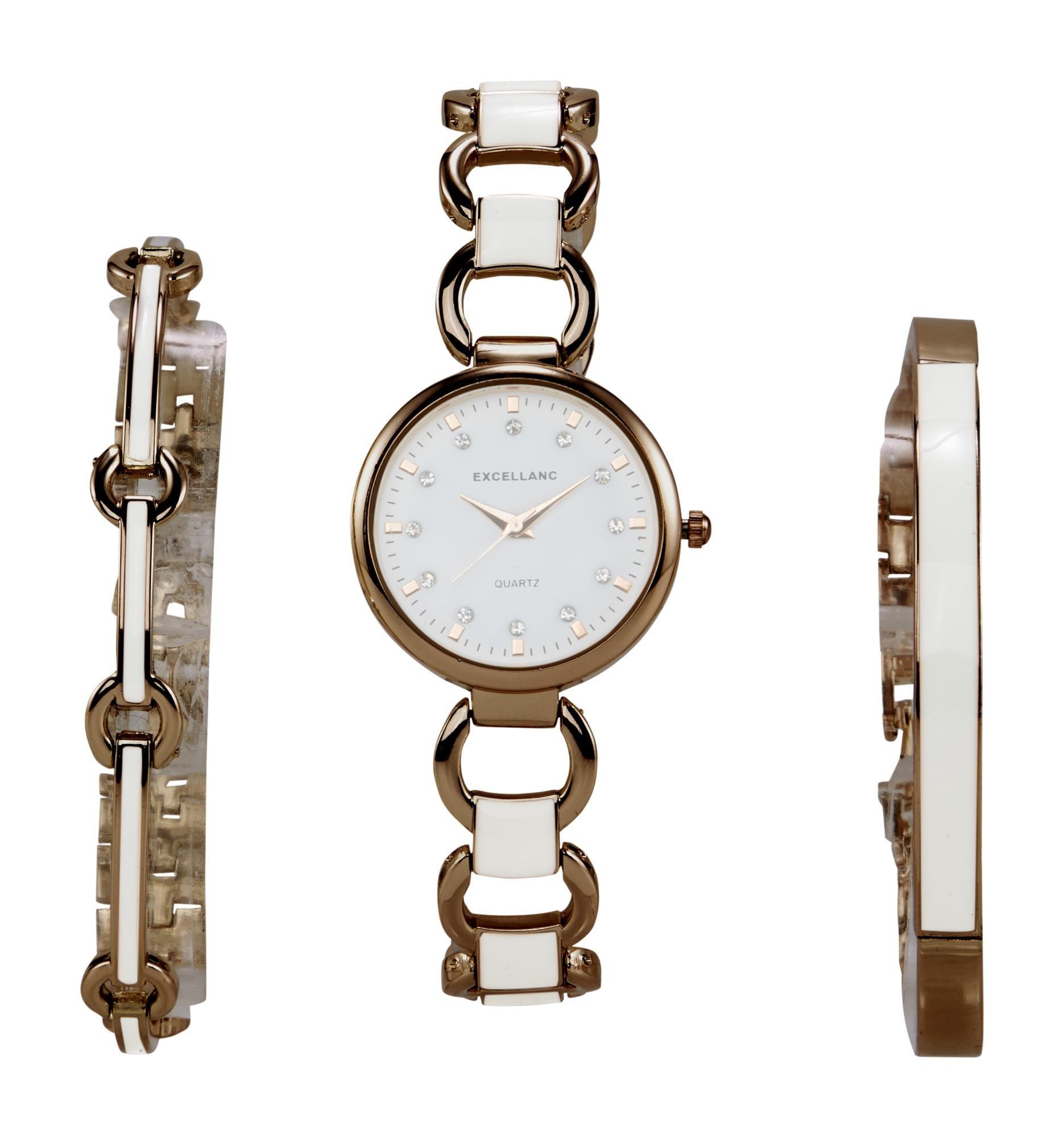 heine Analoginis (įprasto dizaino) laikrodis rožinė / balta / bronzinė