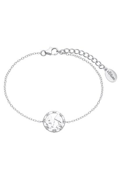 Armbaender für Frauen - Armband 'Weltkugel, 2025615' › S.Oliver › silber  - Onlineshop ABOUT YOU