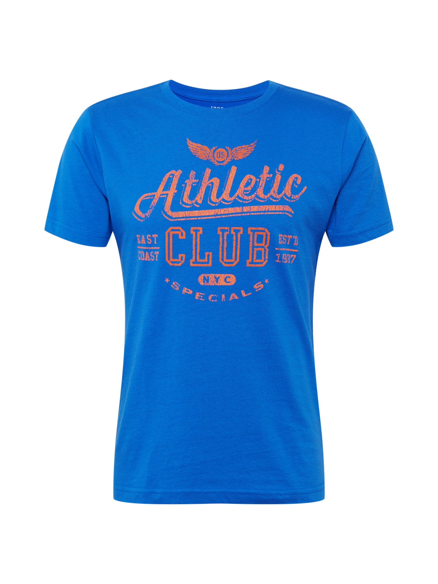 IZOD Marškinėliai mėlyna / oranžinė