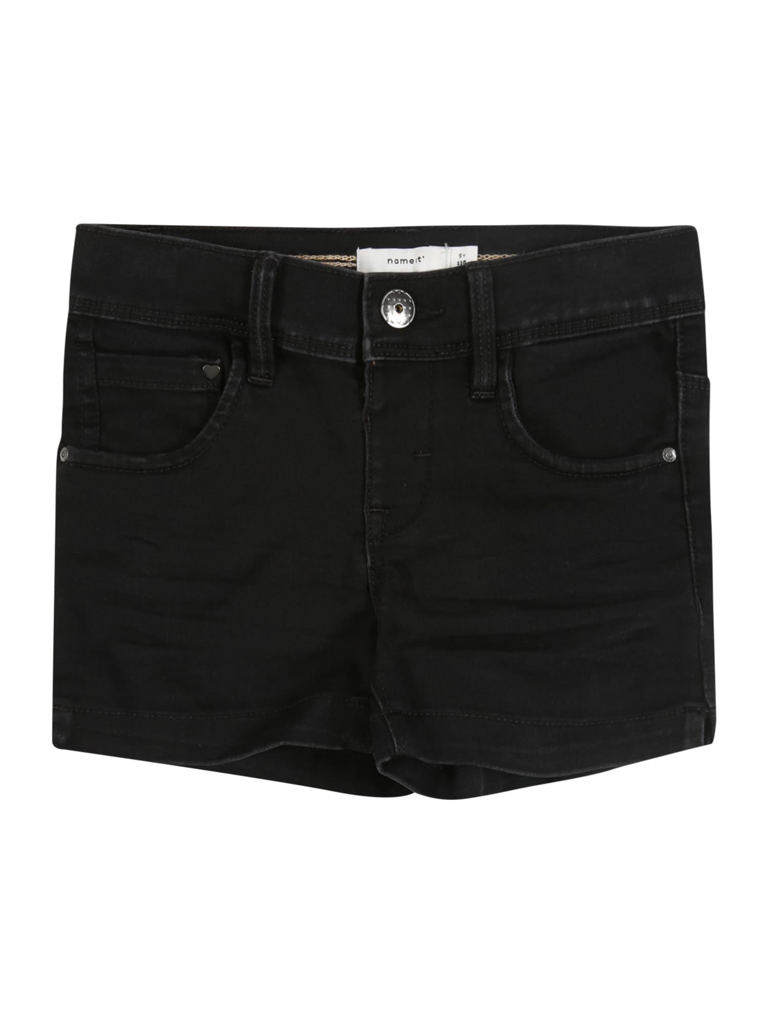 NAME IT Džinsai 'NMFSALLI DNMCILLE 7159 SHORTS CAMP' juodo džinso spalva