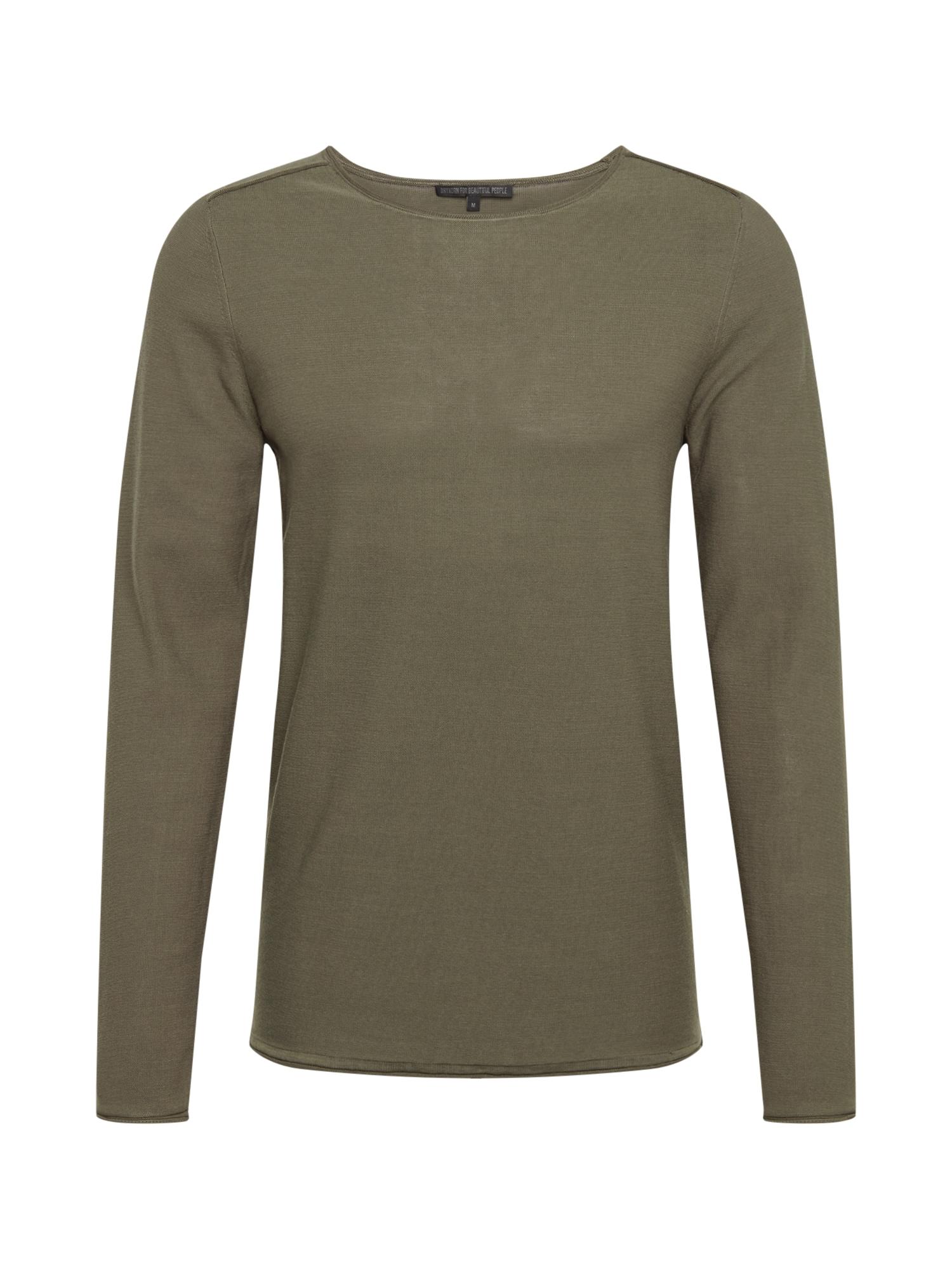 DRYKORN Marškinėliai 'RIK' alyvuogių spalva