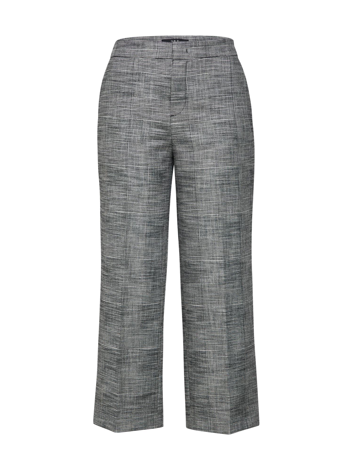 Kalhoty se sklady v pase šedá SET