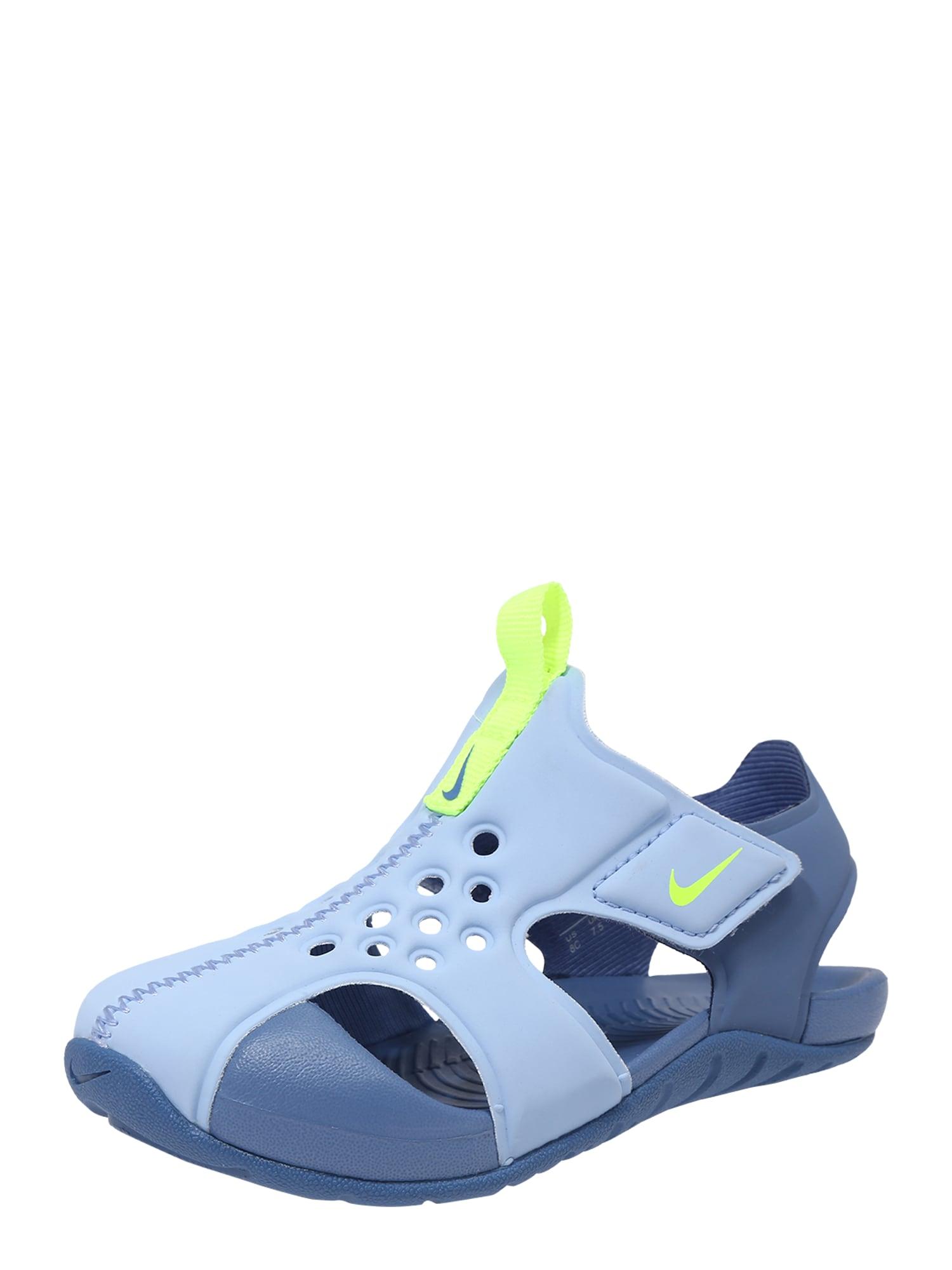 Plážovákoupací obuv Sunray Protect 2 TD světlemodrá žlutá Nike Sportswear