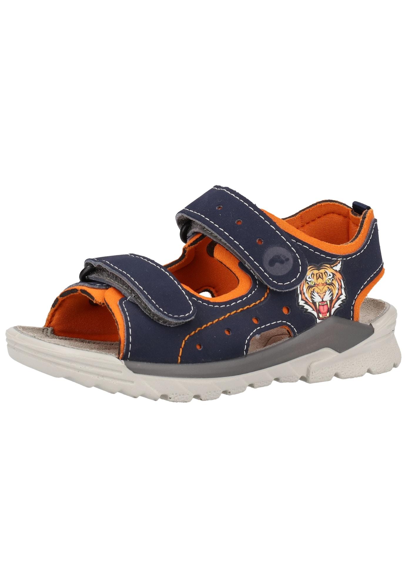 RICOSTA Atviri batai oranžinė / kobalto mėlyna
