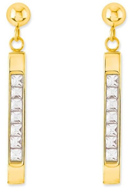 Ohrringe für Frauen - S.Oliver RED LABEL Paar Ohrstecker '2018802' gold weiß  - Onlineshop ABOUT YOU