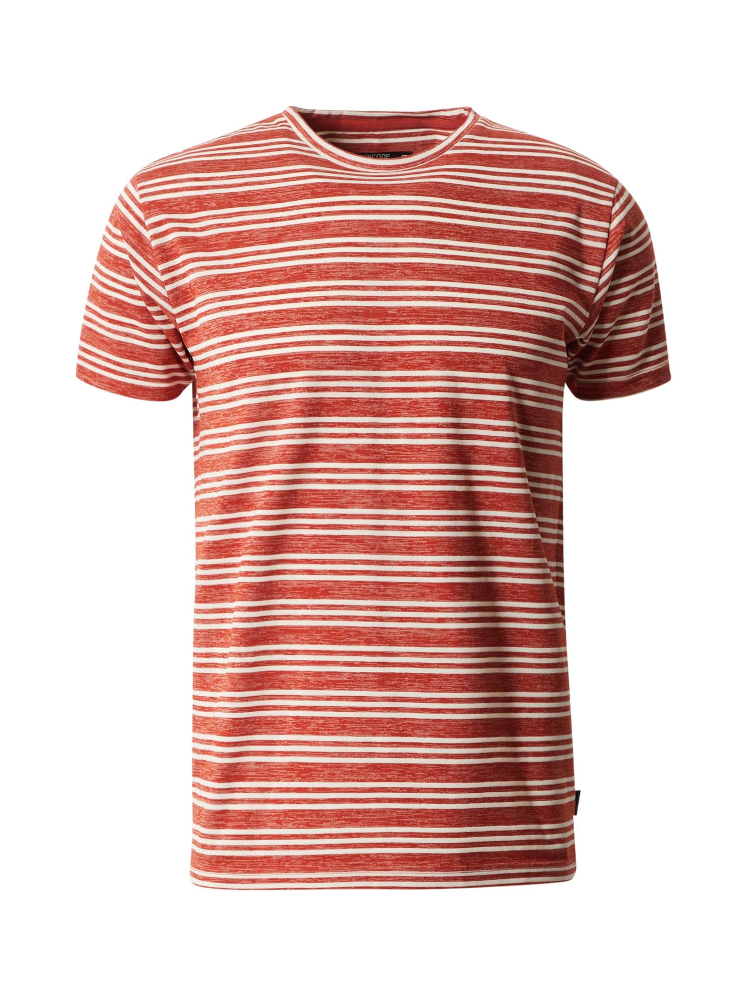 INDICODE JEANS Marškinėliai 'Lille' vyno raudona spalva