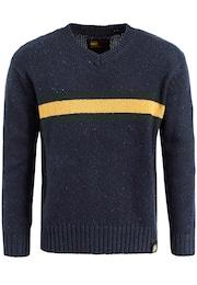 Herren Khujo Pullover BRENT blau,  gelb,  grün | 04056852963495